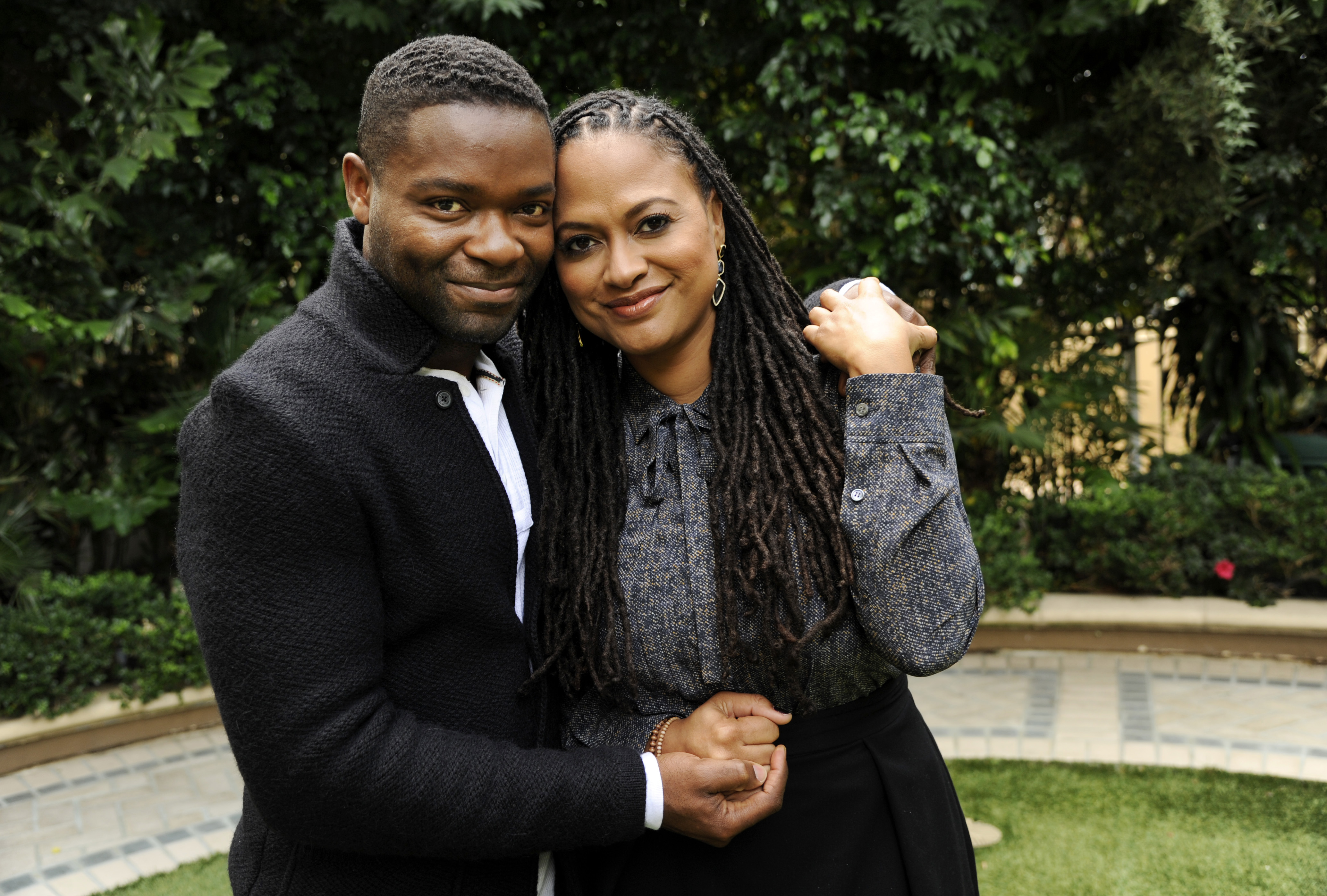 Ava DuVernay, right, director of the film  Selma,  and cast member David Oyelowo pose together at the Four Seasons Hotel on Wednesday, Nov. 12, 2014, in Beverly Hills, Calif. (Photo by Chris Pizzello/Invision/AP)