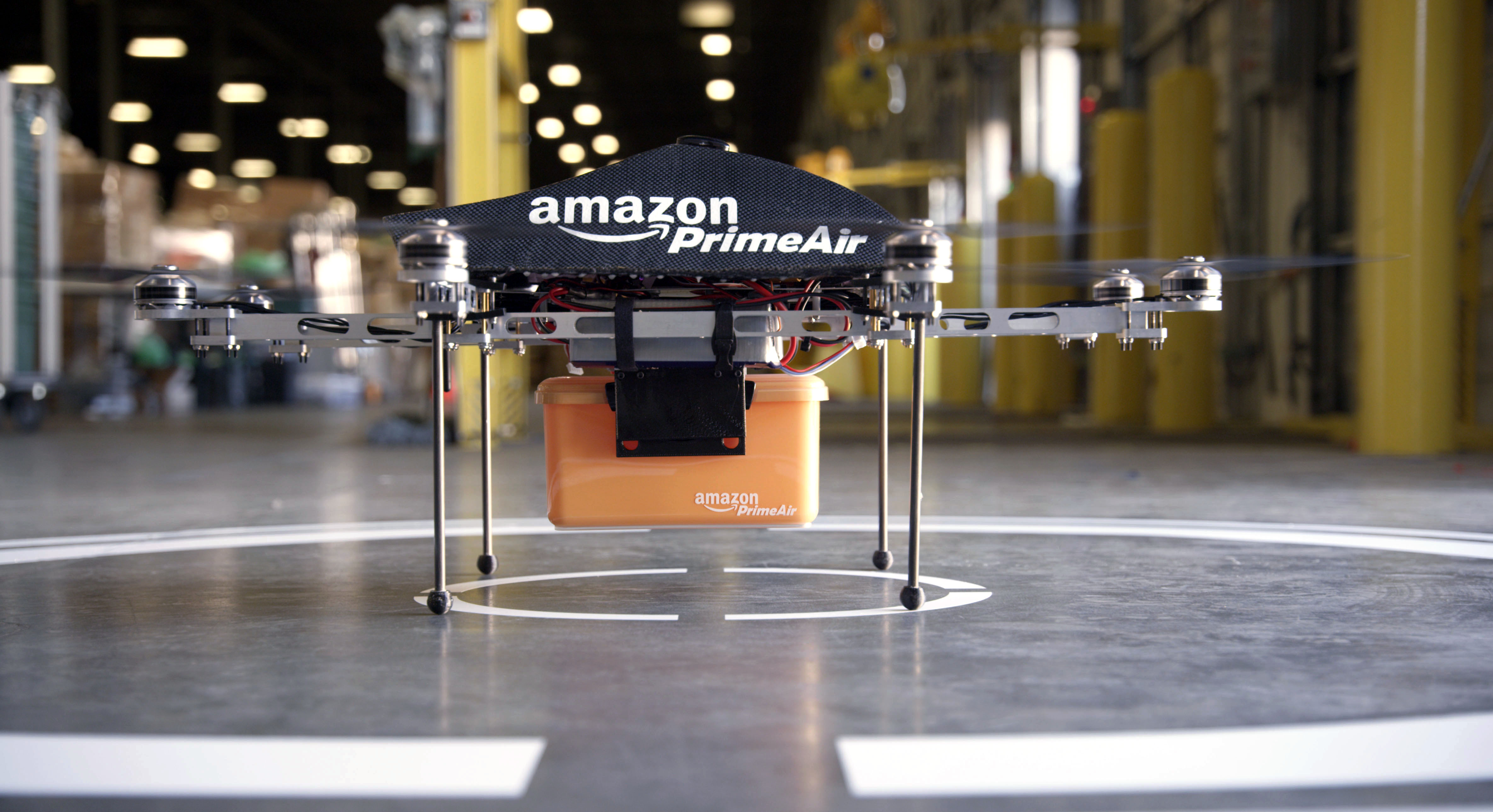 This undated image provided by Amazon.com shows the so-called Prime Air unmanned aircraft project that Amazon is working on in its research and development labs.