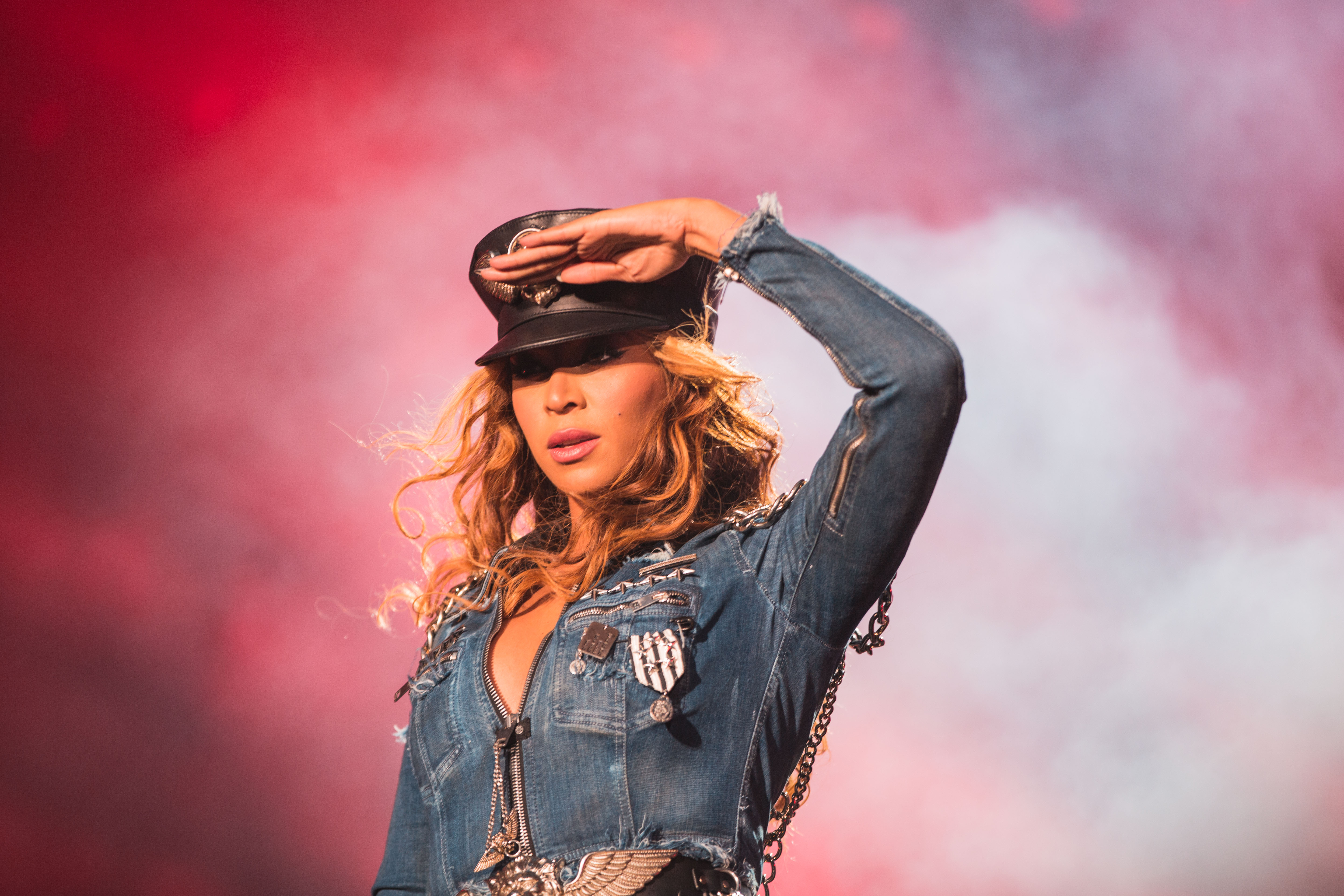 Beyonce performs during the On The Run tour at Investors Group Field on July 27, 2014 in Winnipeg, Manitoba, Canada.