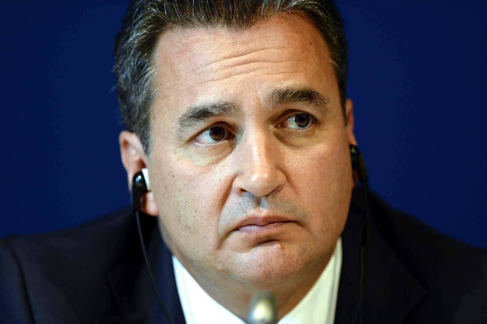 FIFA's Michael Garcia photographed during a press conference at the Home of FIFA in Zurich, Switzerland, on  Friday, 27. July 2012