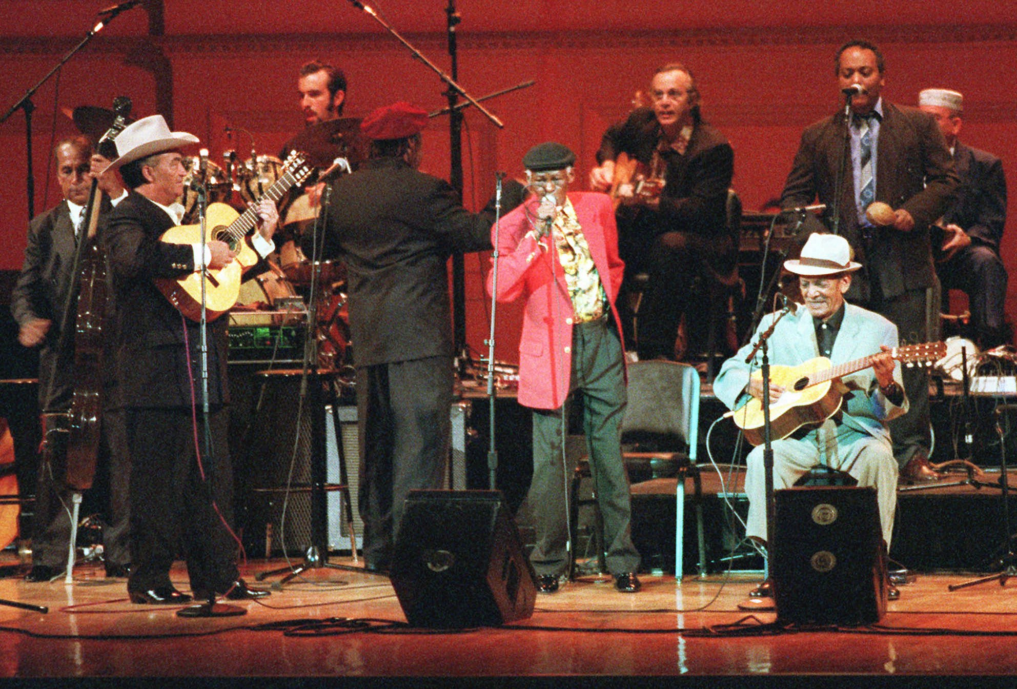 The Buena Vista Social Club performs at New York's Carnegie Hall in 1998.