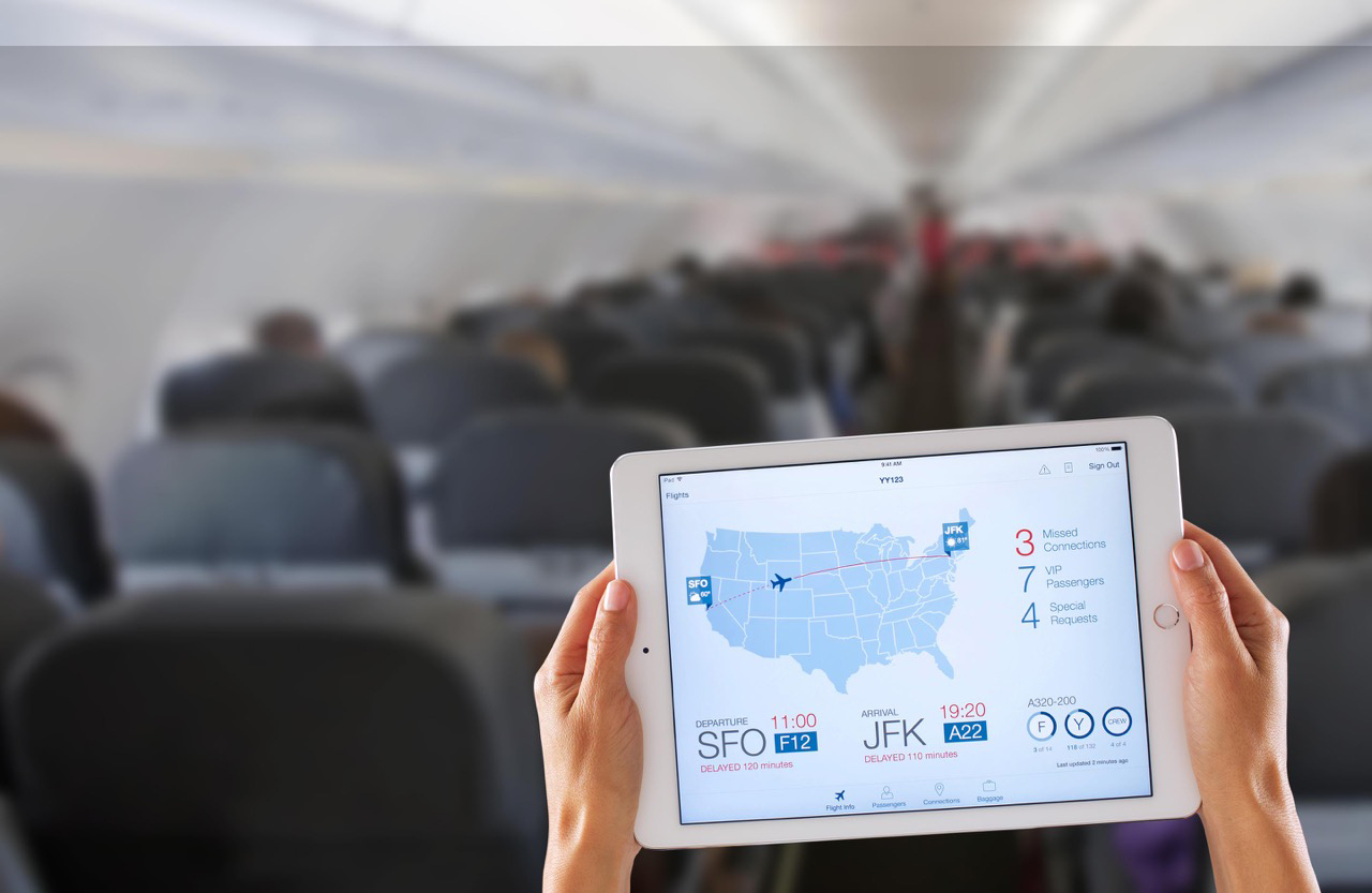 Apple and IBM announced the availability of the first made-for-business apps designed for iPhones and iPads on Dec. 10, 2014. The apps include Passenger+ (above), which allows airline flight crews to offer personalized, in-flight services to passengers.