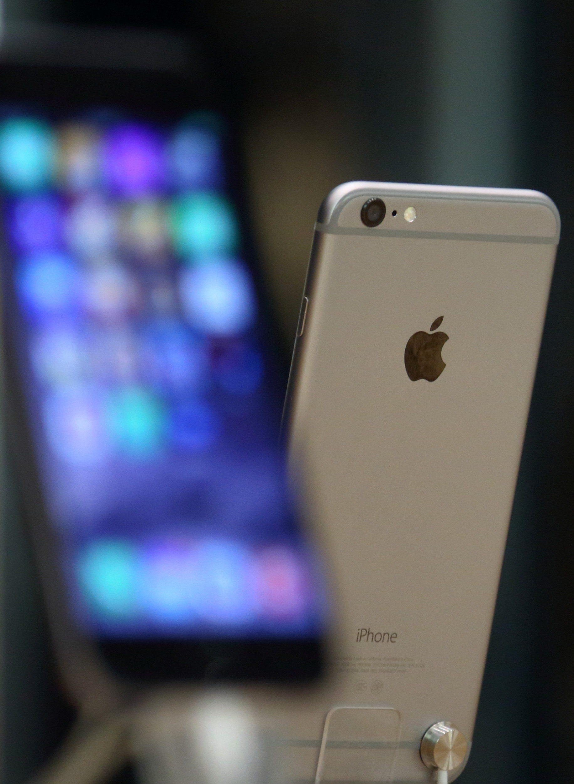 Apple's iPhone 6 is displayed at an Apple store in Beijing, China on Nov. 11, 2014.