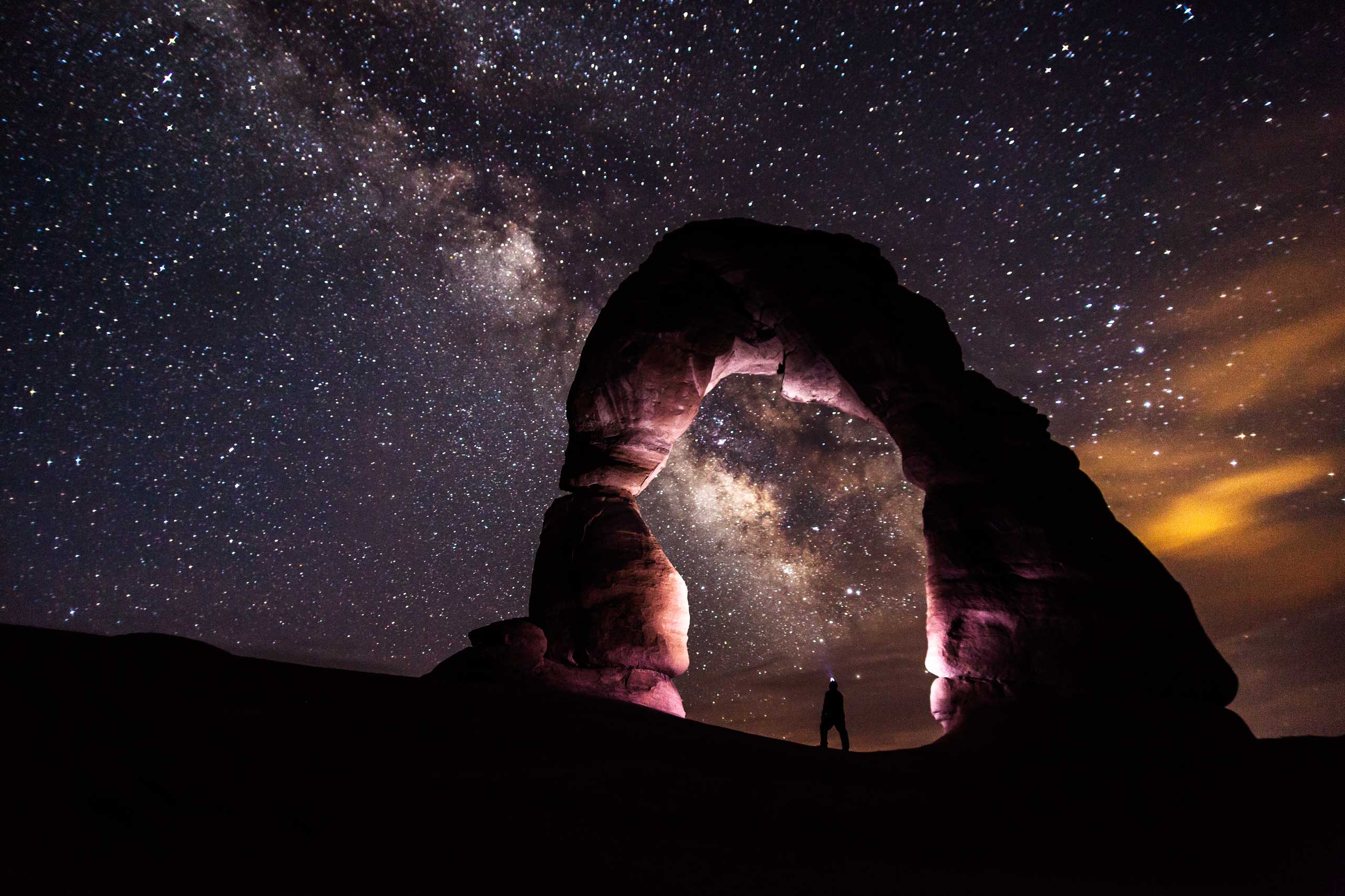 The Milky Way over Arches National Park in Utah.
