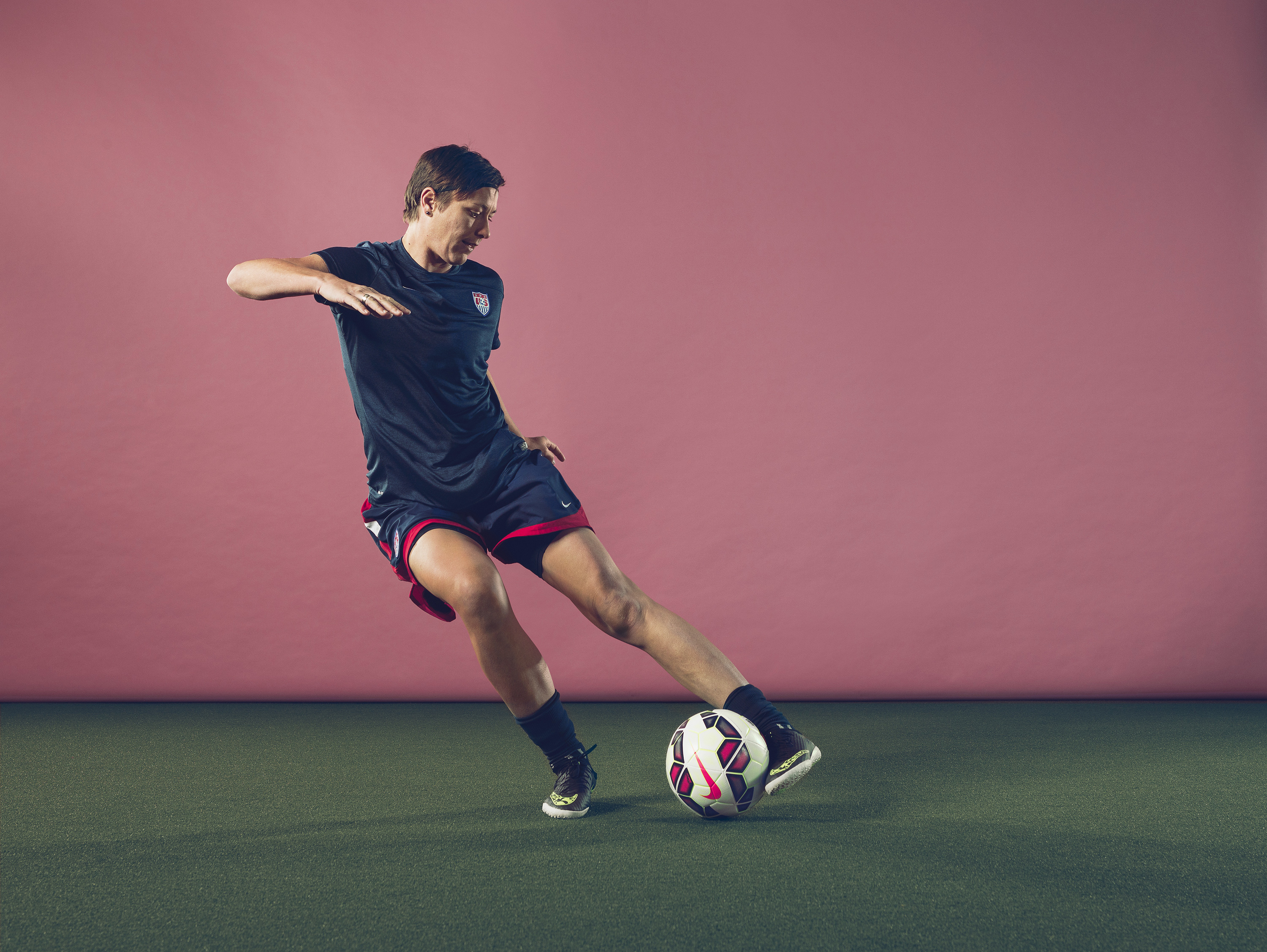 Big Boot: Abby Wambach has scored 177 international goals–a record for both women and men.