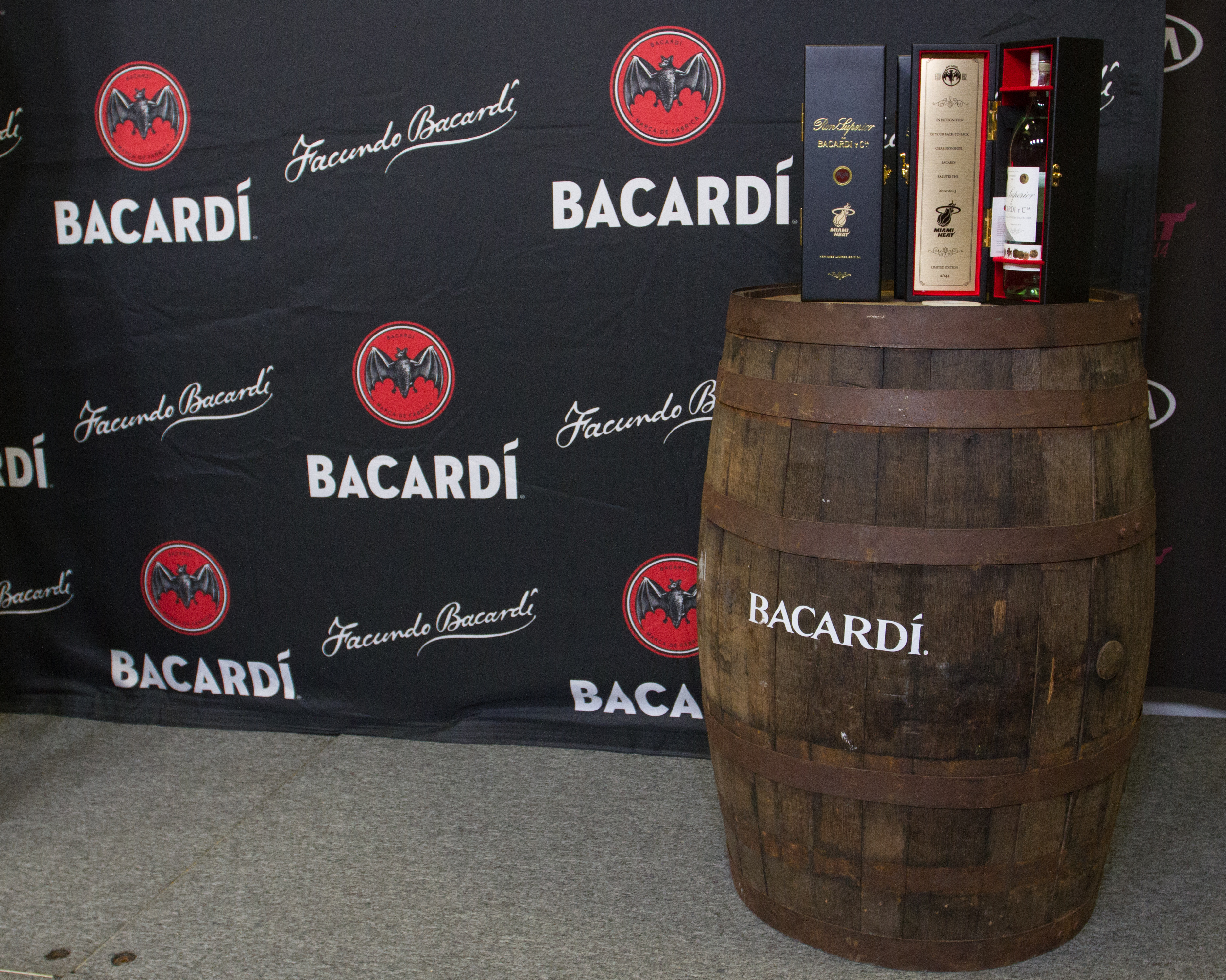 A limited-edition bottle of BACARDI Superior rum on Dec. 18, 2013 in Miami, Florida.
