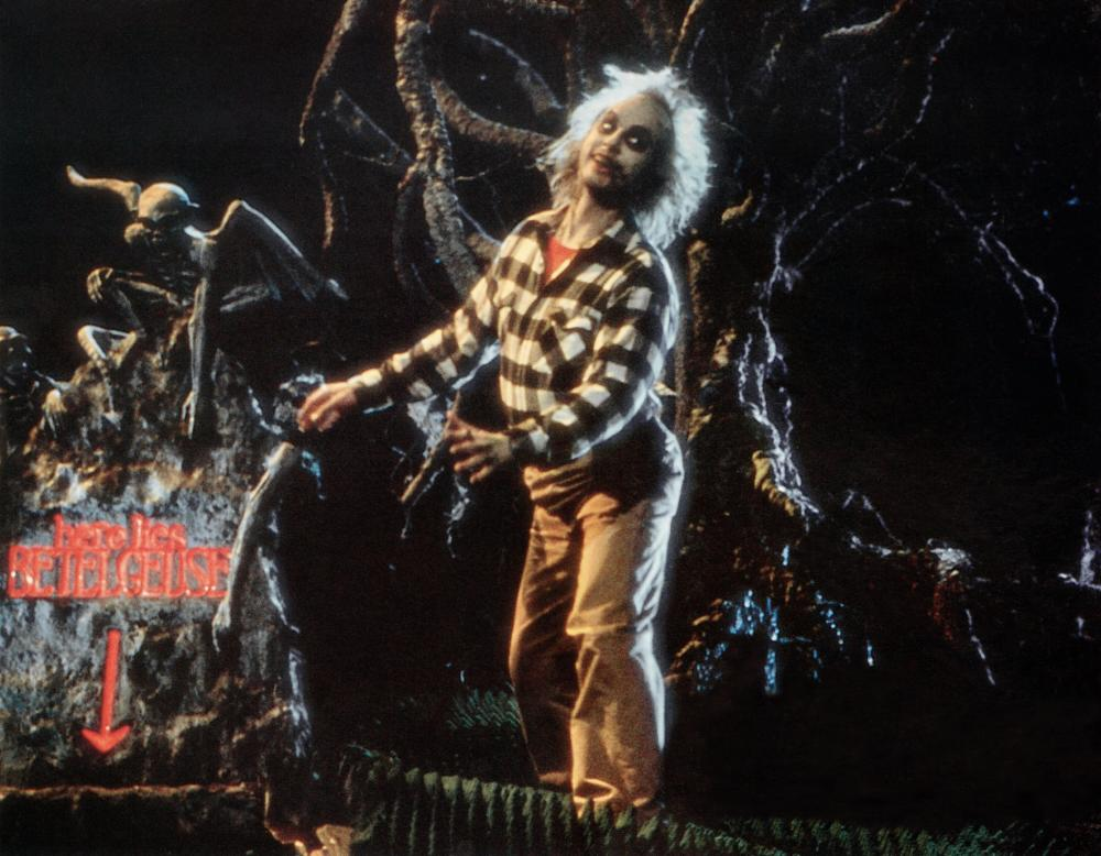 Michael Keaton in Beetlejuice, 1988.