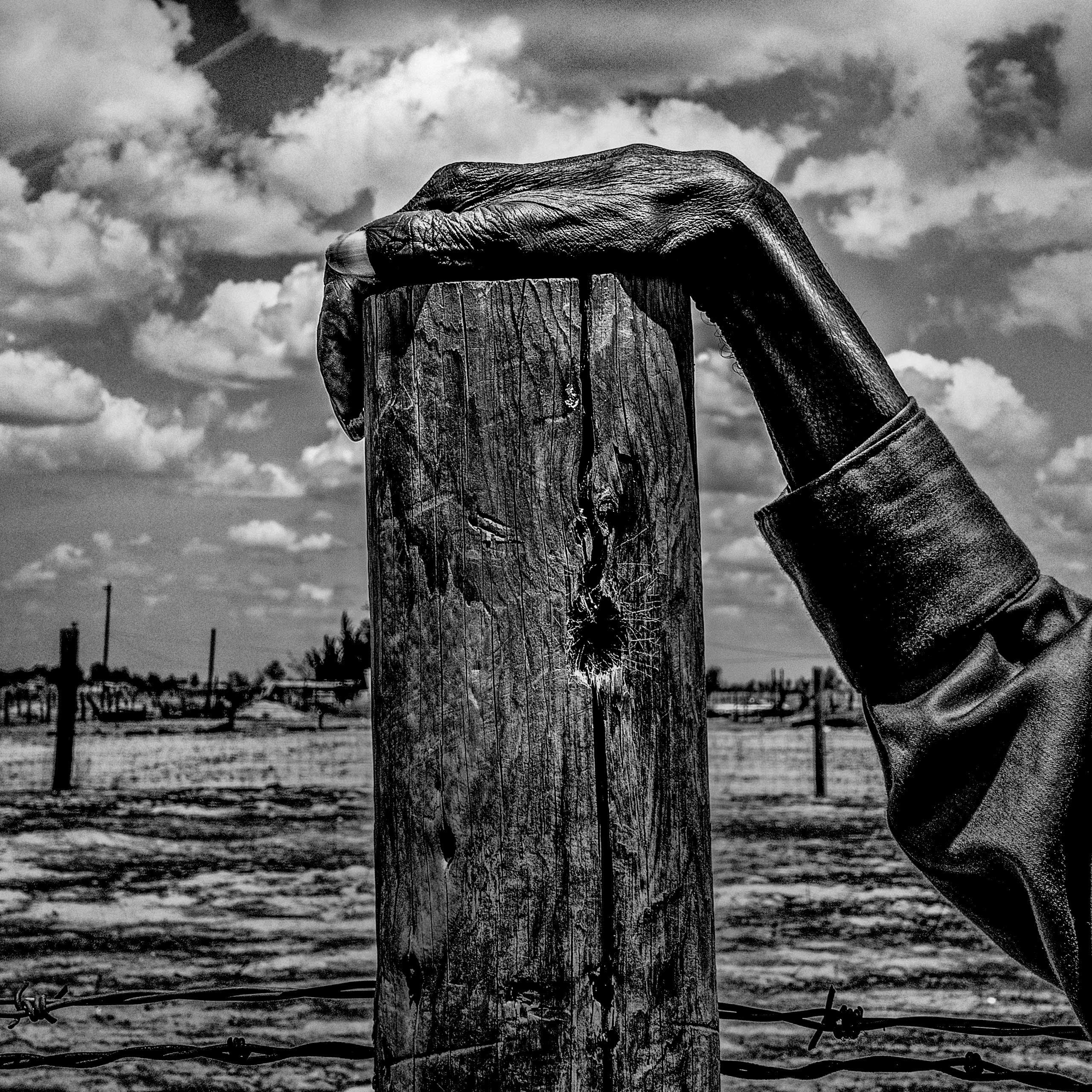 Fence post, Allensworth, Calif., May 9, 2014. Allensworth is a community where  54% of the population live below the poverty level.