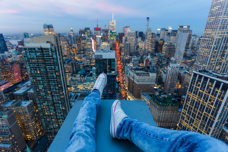 Vitaliy Raskalov (@raskalov) and Vadim Makhorov (@makhorov) have been rooftopping for five years. New York City                               November 2014
