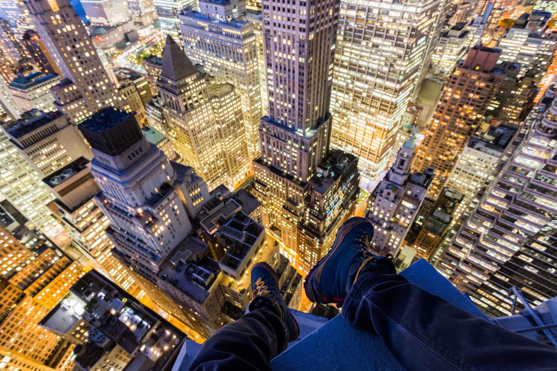 Vitaliy Raskalov (@raskalov) and Vadim Makhorov (@makhorov) have been rooftopping for five years.  New York City November, 2014