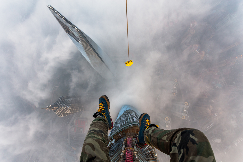 Vitaliy Raskalov (@raskalov) and Vadim Makhorov (@makhorov) have been rooftopping for five years. Shanghai, China February 2014