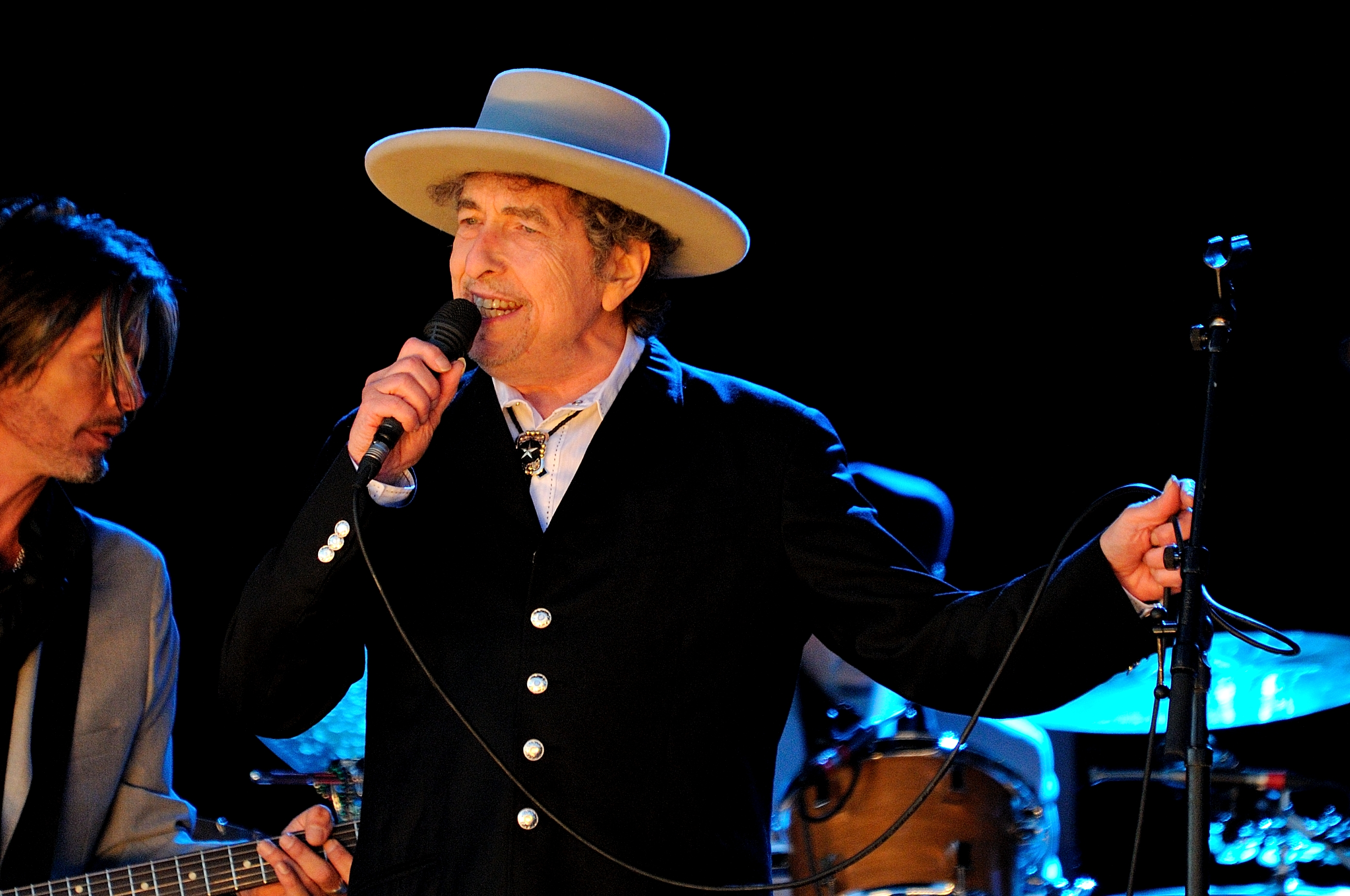 Bob Dylan performs on stage during Hop Farm Festival on June 30, 2012 in Paddock Wood, United Kingdom.