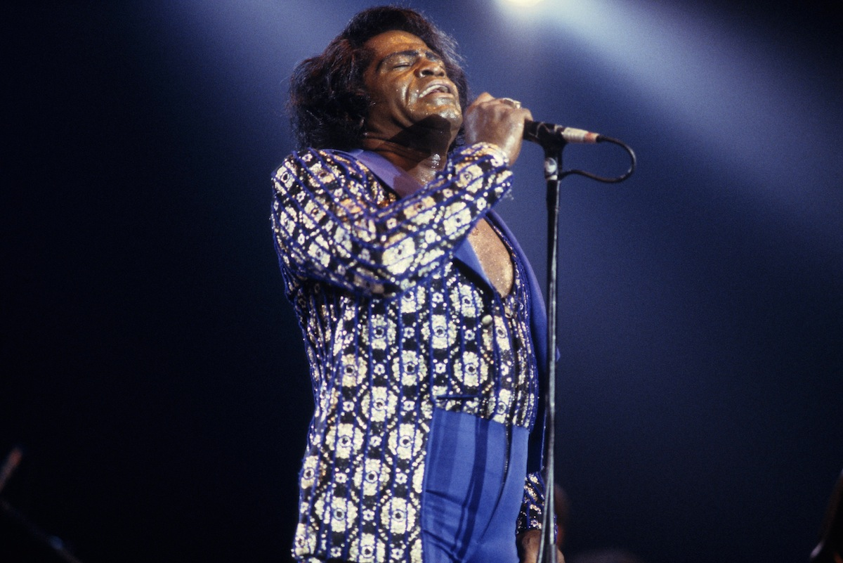 James Brown performing on Jul. 1, 1990, in the Netherlands