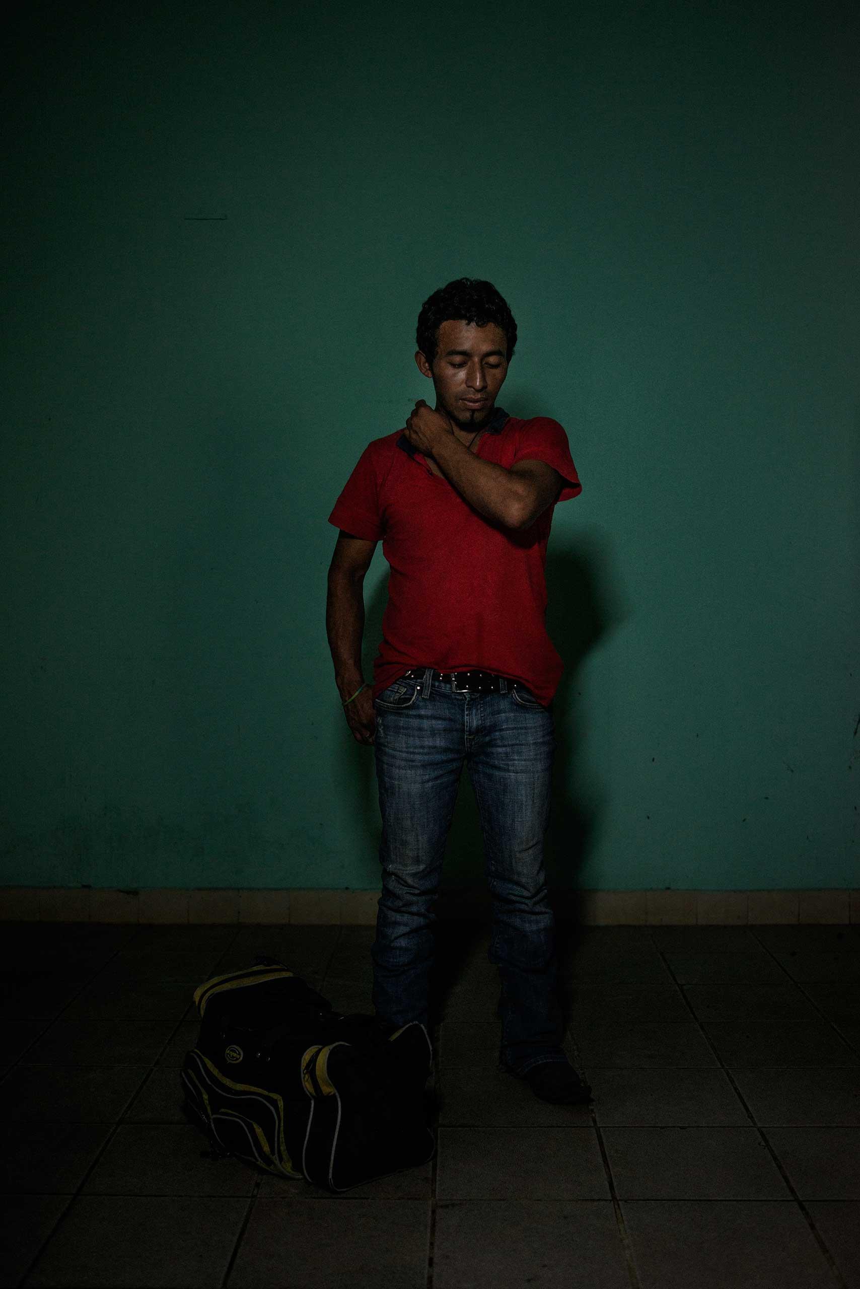 José Alfredo Bin, 27, from Guatemala.