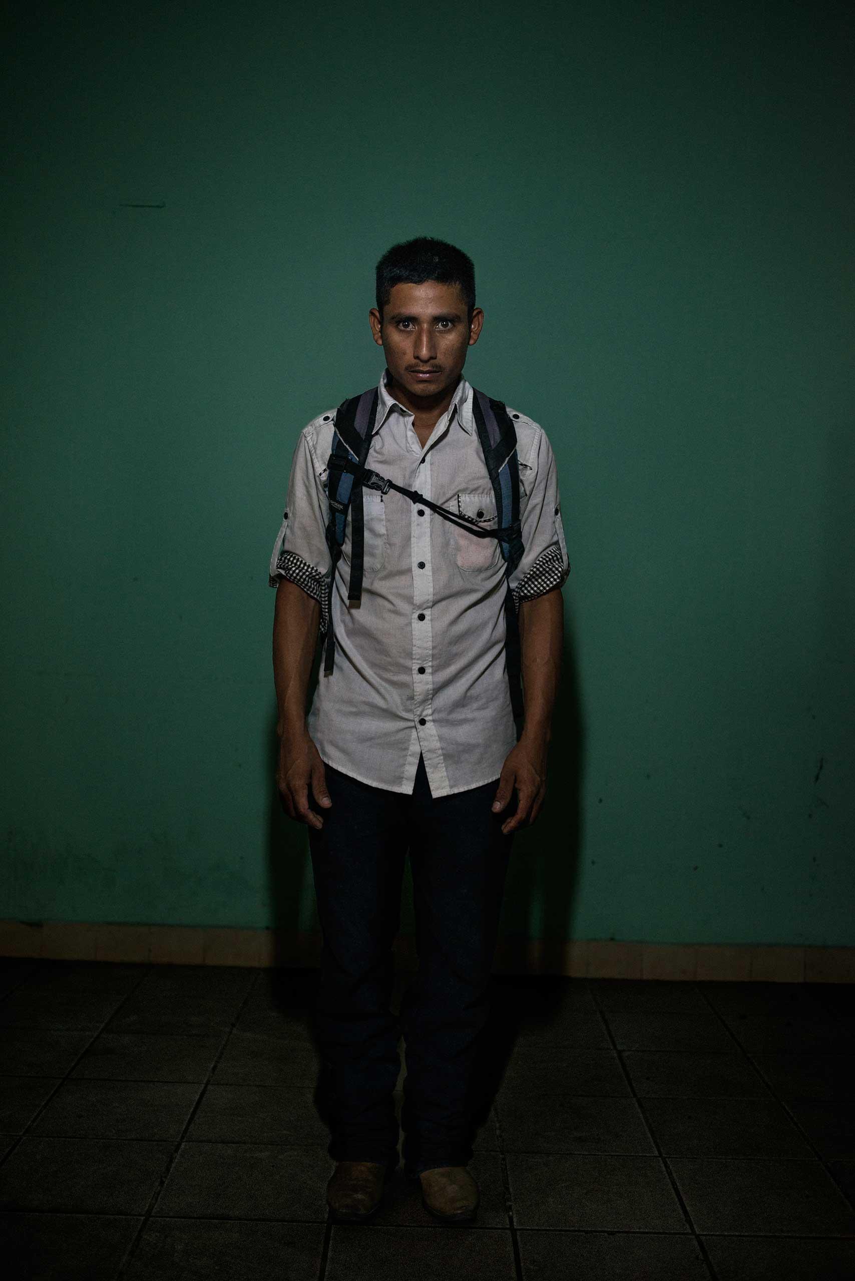 Ariel Mejia, 22, from Guatemala.