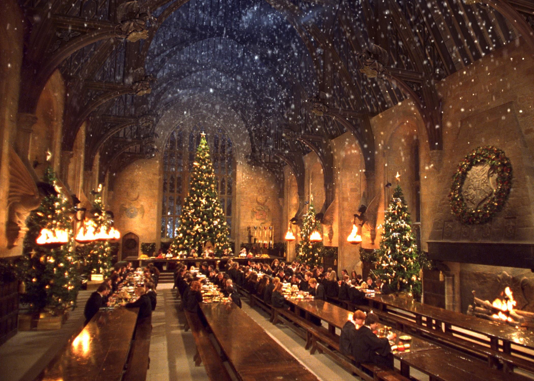 Christmas Dinner In The Great Hall 2020 Hogwarts Dinner Harry Potter Studio Tour | Time