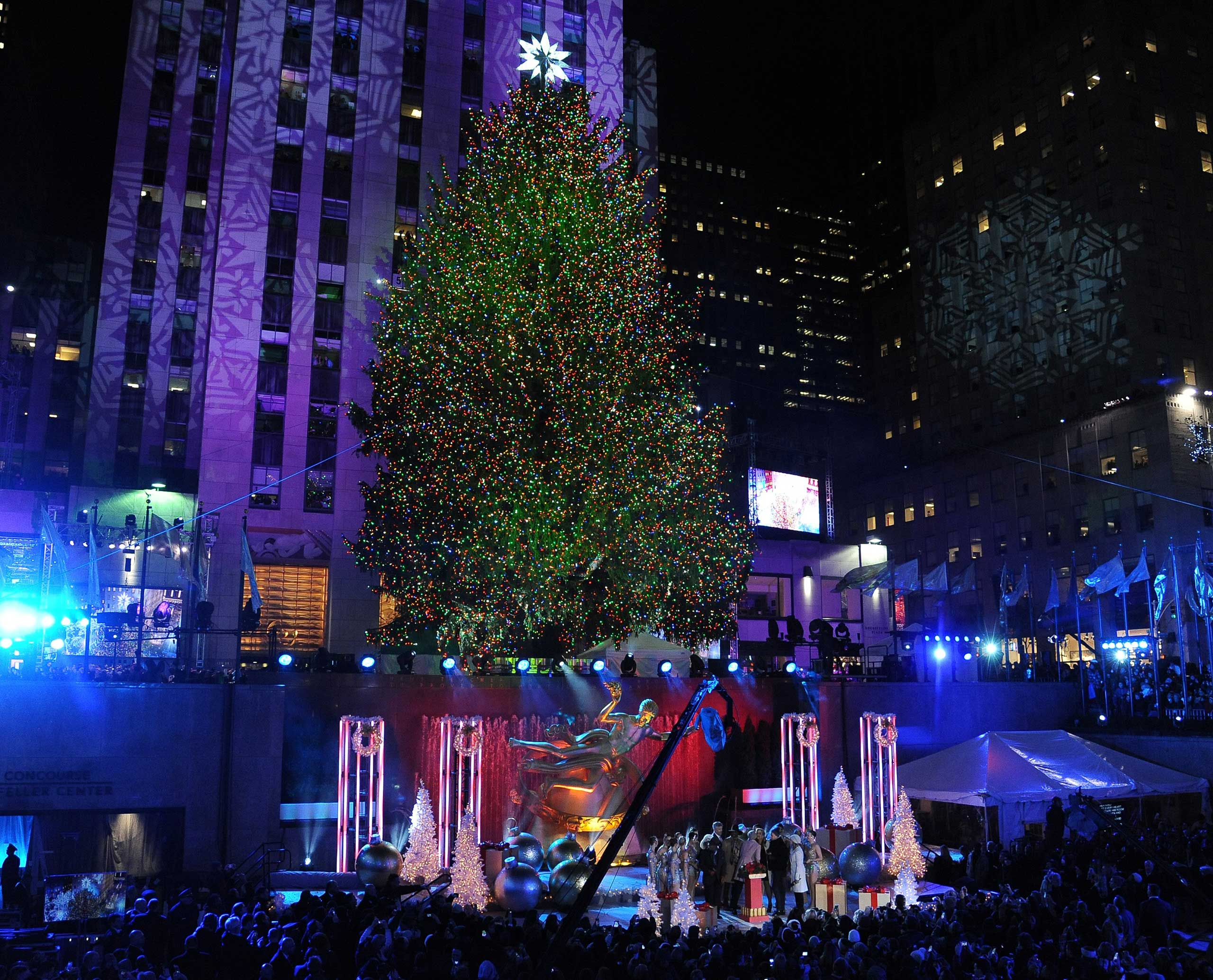 The 82nd Annual Rockefeller Christmas Tree Lighting Ceremony in New York City on Dec. 3, 2014.