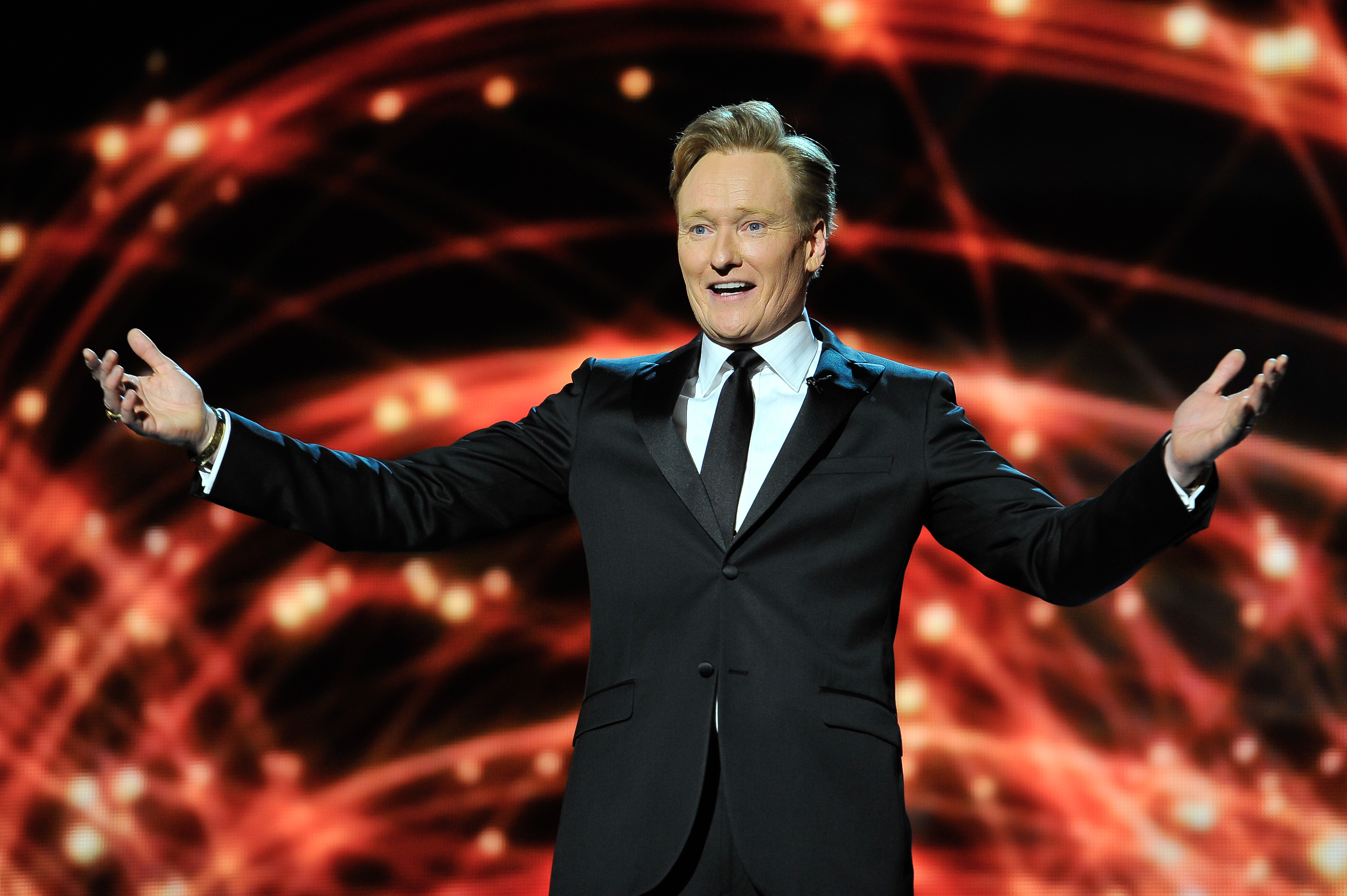 Conan O'Brien presenting at the 2014 Breakthrough Prizes Awarded in Fundamental Physics and Life Sciences Ceremony on Dec. 12, 2013 in Mountain View, Calif.