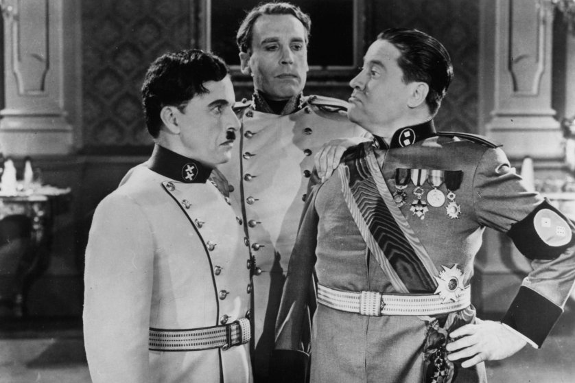 Charles Chaplin And Jack Oakie In 'The Great Dictator'