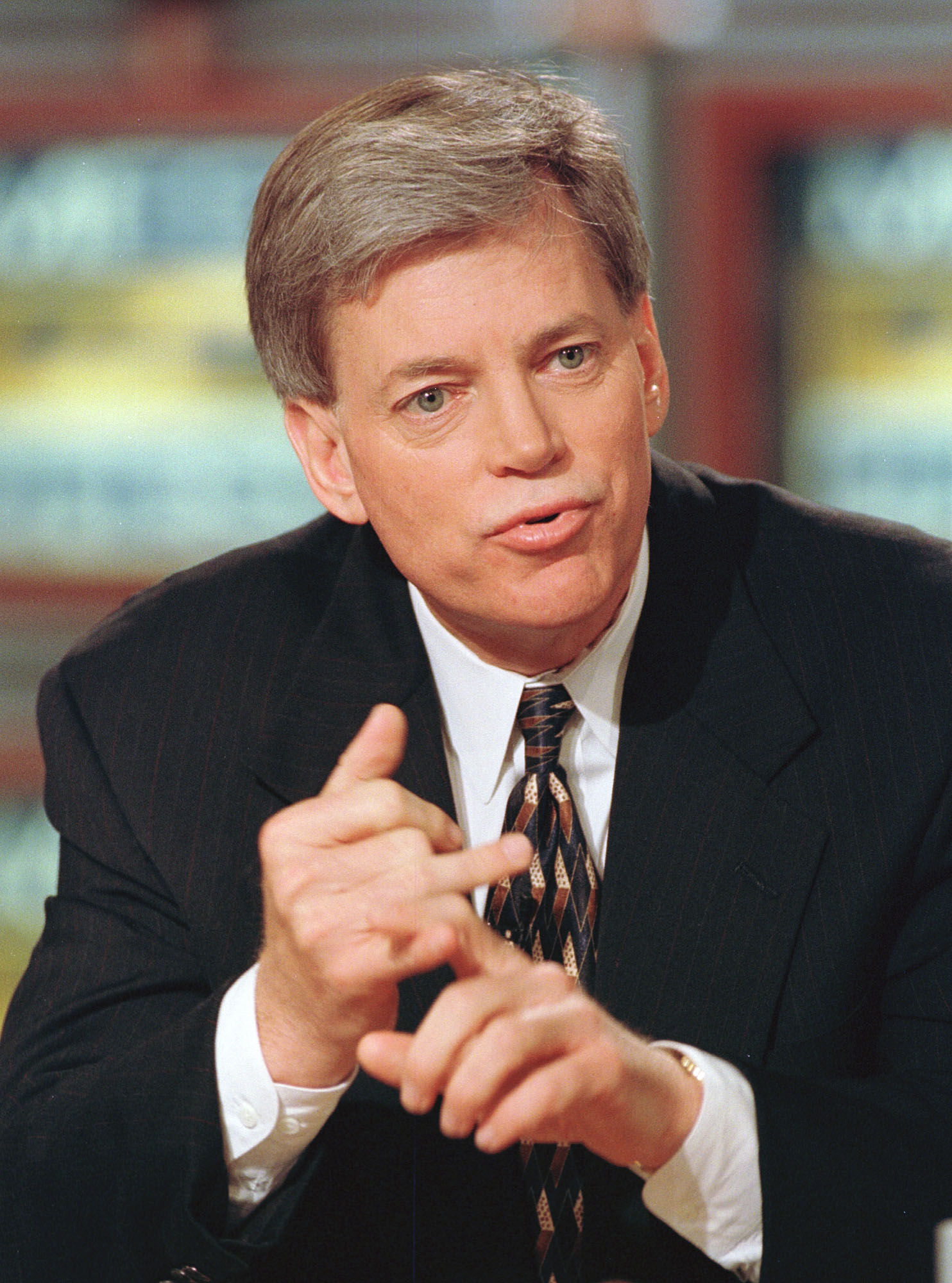 Former Klansman and congressional candidate David Duke discusses his bid for the seat opened by Rep. Bob Livingston during NBC's ''Meet the Press'' on March 28, 1999 in Washington.