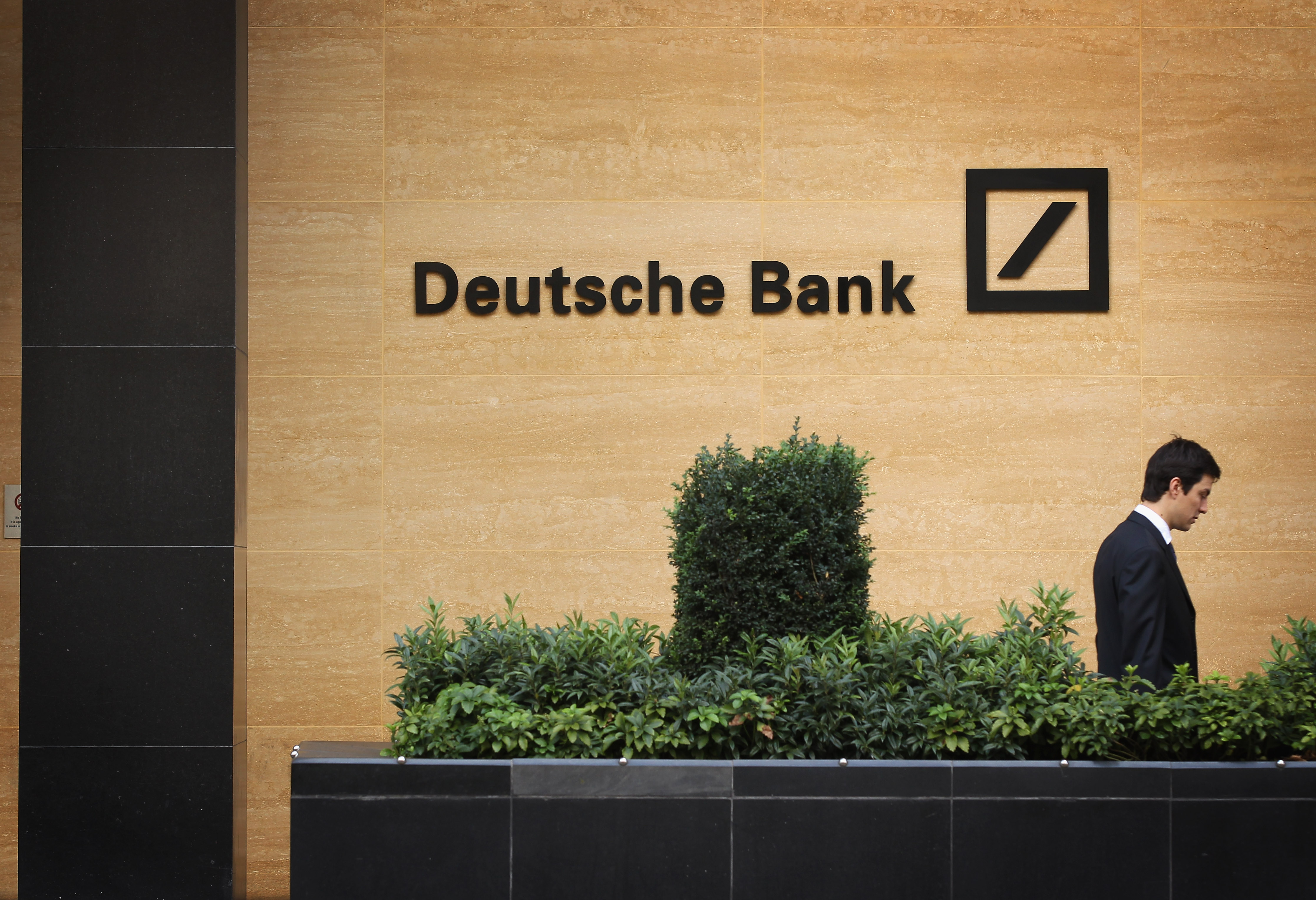 A general view of Deutsche Bank on Sept. 5, 2011 in London.