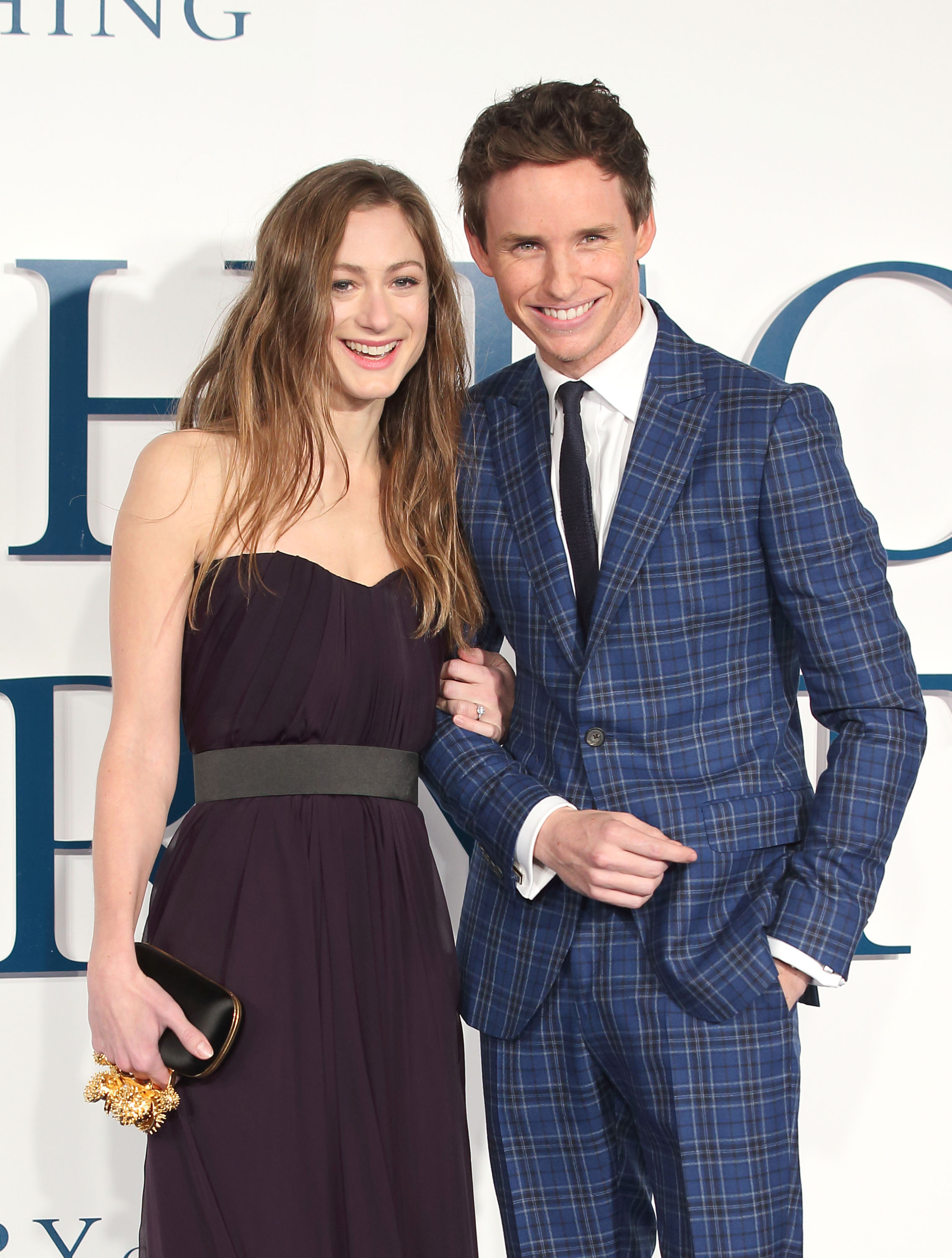Actor Eddie Redmayne and Hannah Bagshawe at the UK Premiere of  The Theory Of Everything  on Dec. 9, 2014.