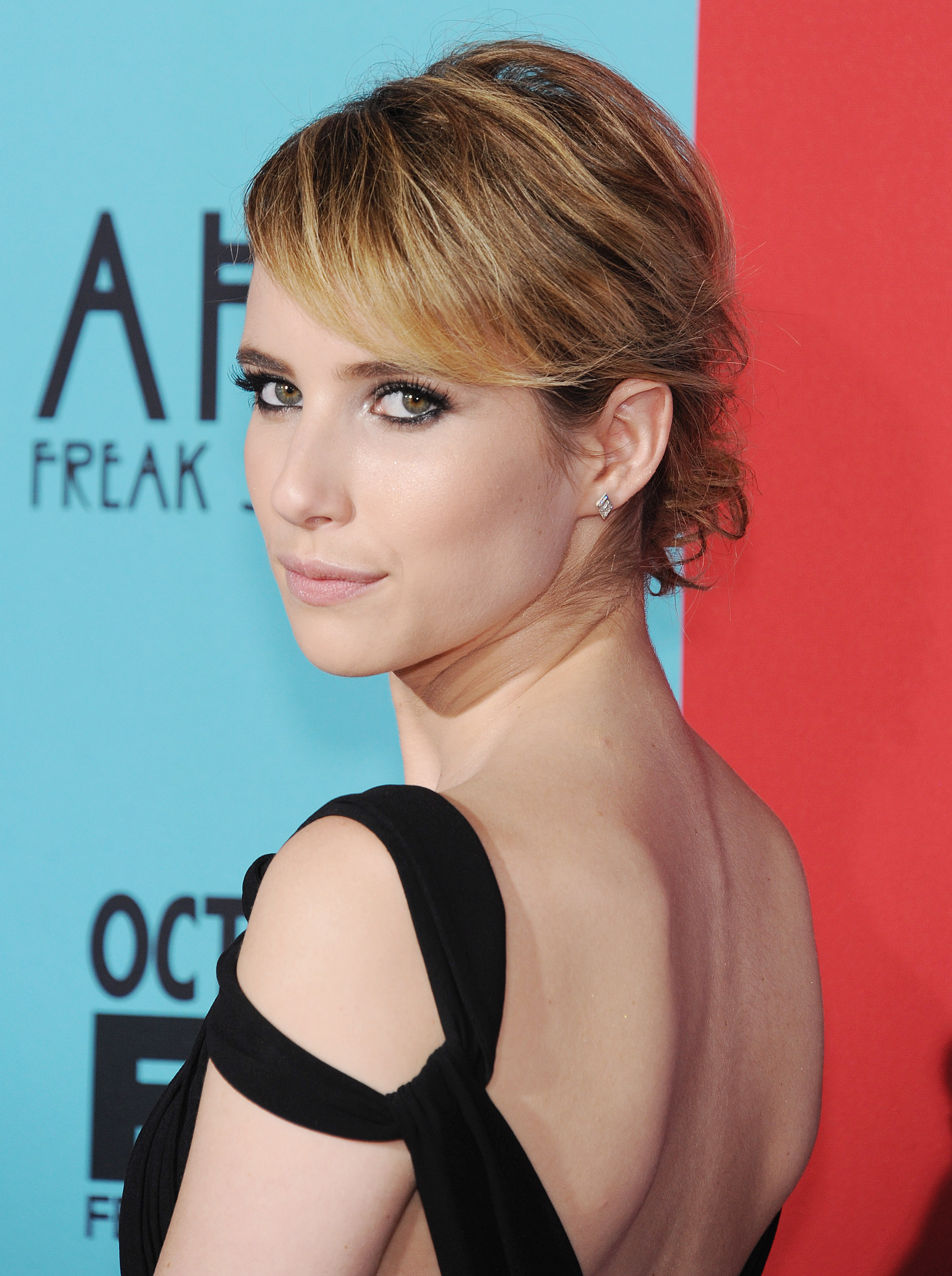 'Emma Roberts at the American Horror Story: Freak Show' red carpet premiere in Los Angeles.