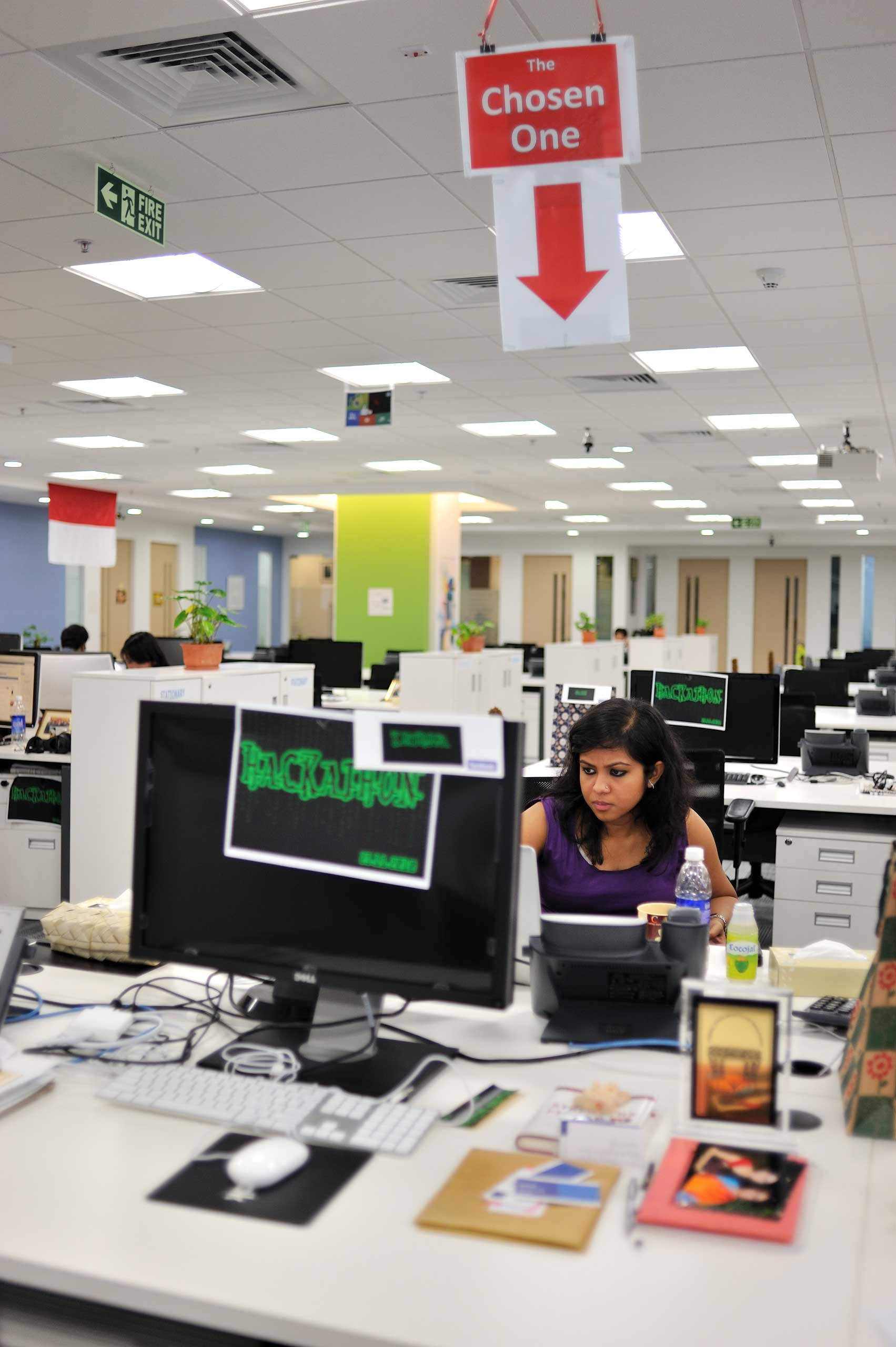 Facebook offices in Hyderabad, India in 2010.
