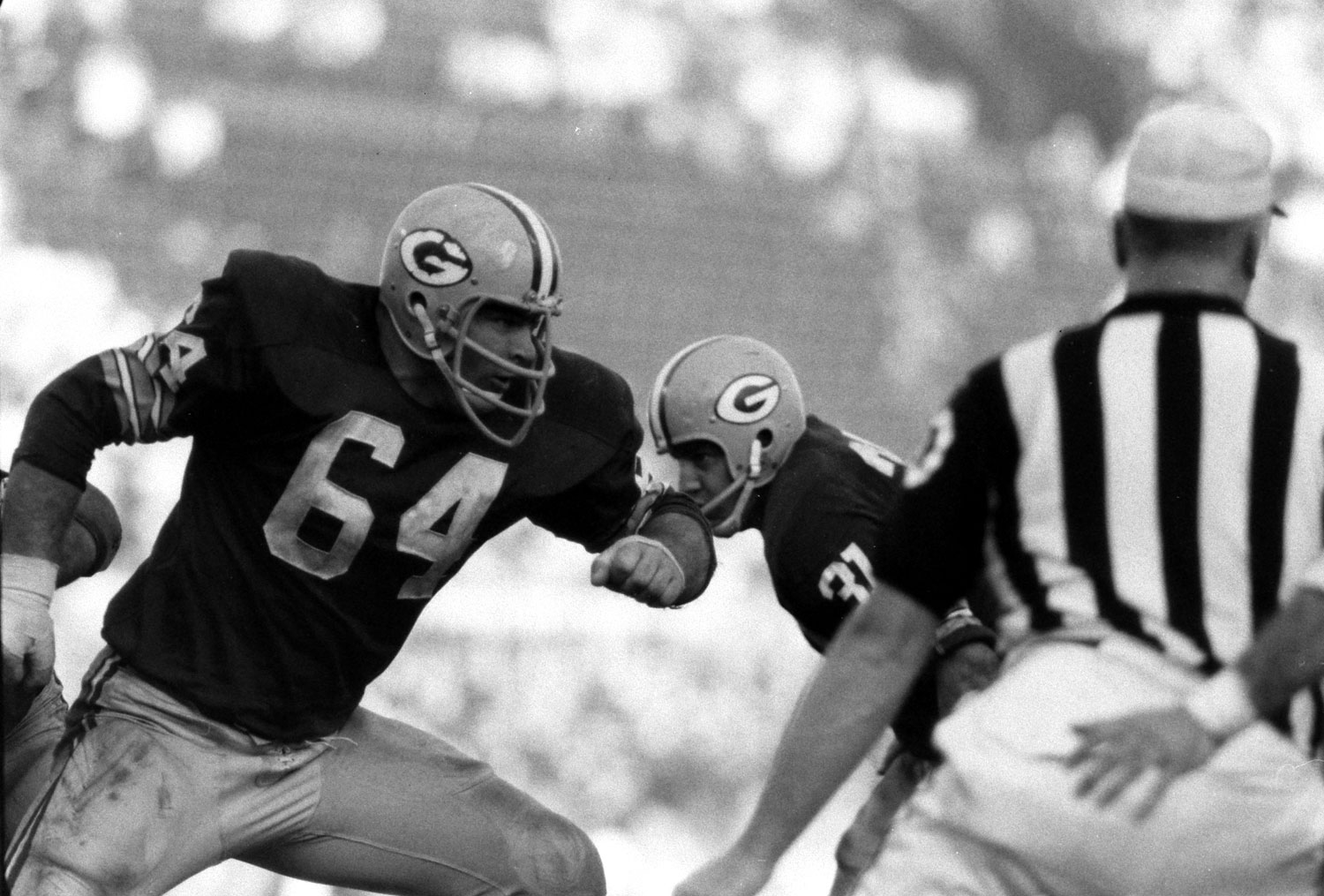 <b>Not published in LIFE.</b> Green Bay's Jerry Kramer - a tremendous offensive lineman who, incredibly (and shamefully), was never inducted into the Pro Football Hall of Fame Ñ in Super Bowl I, 1967.