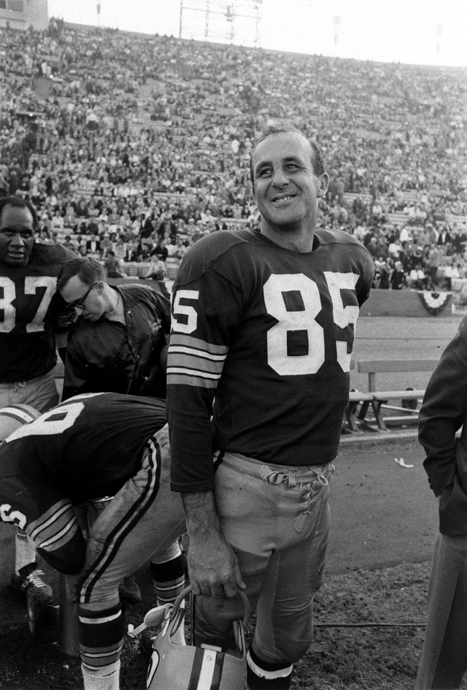 <b>Not published in LIFE.</b> Green Bay wide receiver Max McGee, Super Bowl I, 1967. His line for the game: seven receptions, 138 yards, two TDs.