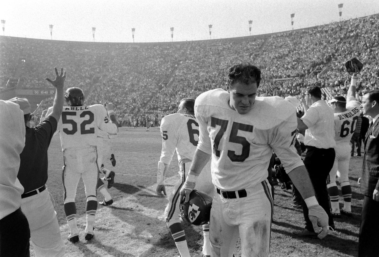 <b>Not published in LIFE.</b> Kansas City sideline, Super Bowl I, 1967.