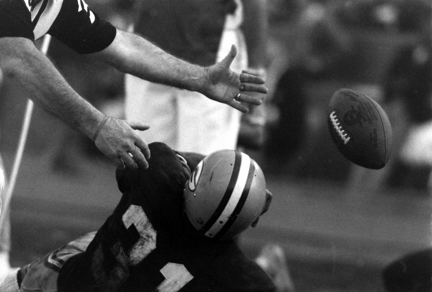 <b>Not published in LIFE.</b> Green Bay's Jim Taylor (#31), Super Bowl I, 1967.