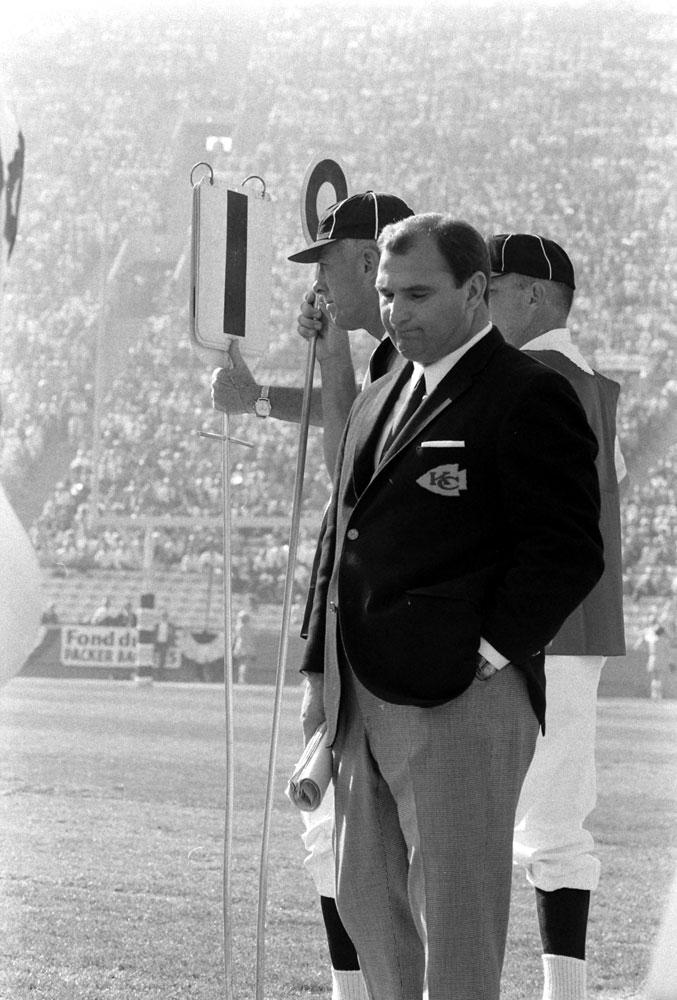<b>Not published in LIFE.</b> Kansas City head coach Hank Stram, Super Bowl I, 1967.