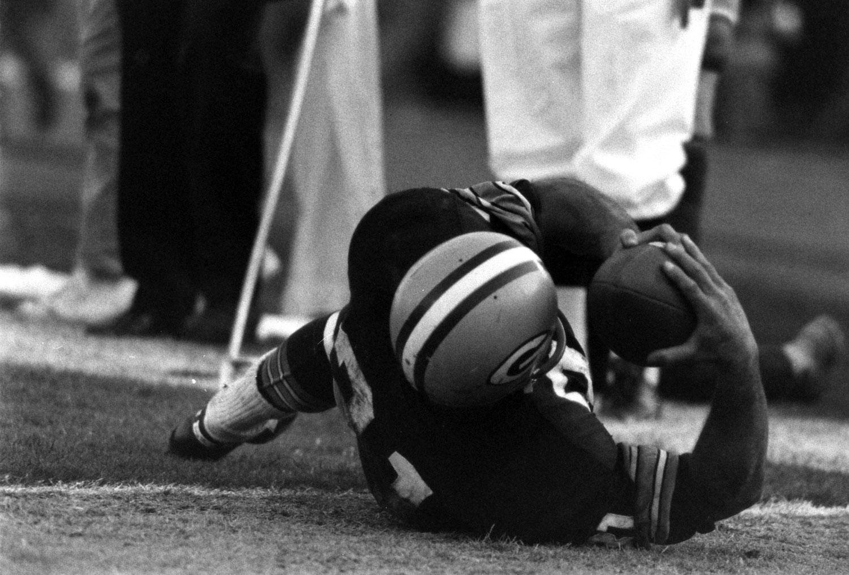 <b>Not published in LIFE.</b> Jim Taylor, Super Bowl I, 1967.