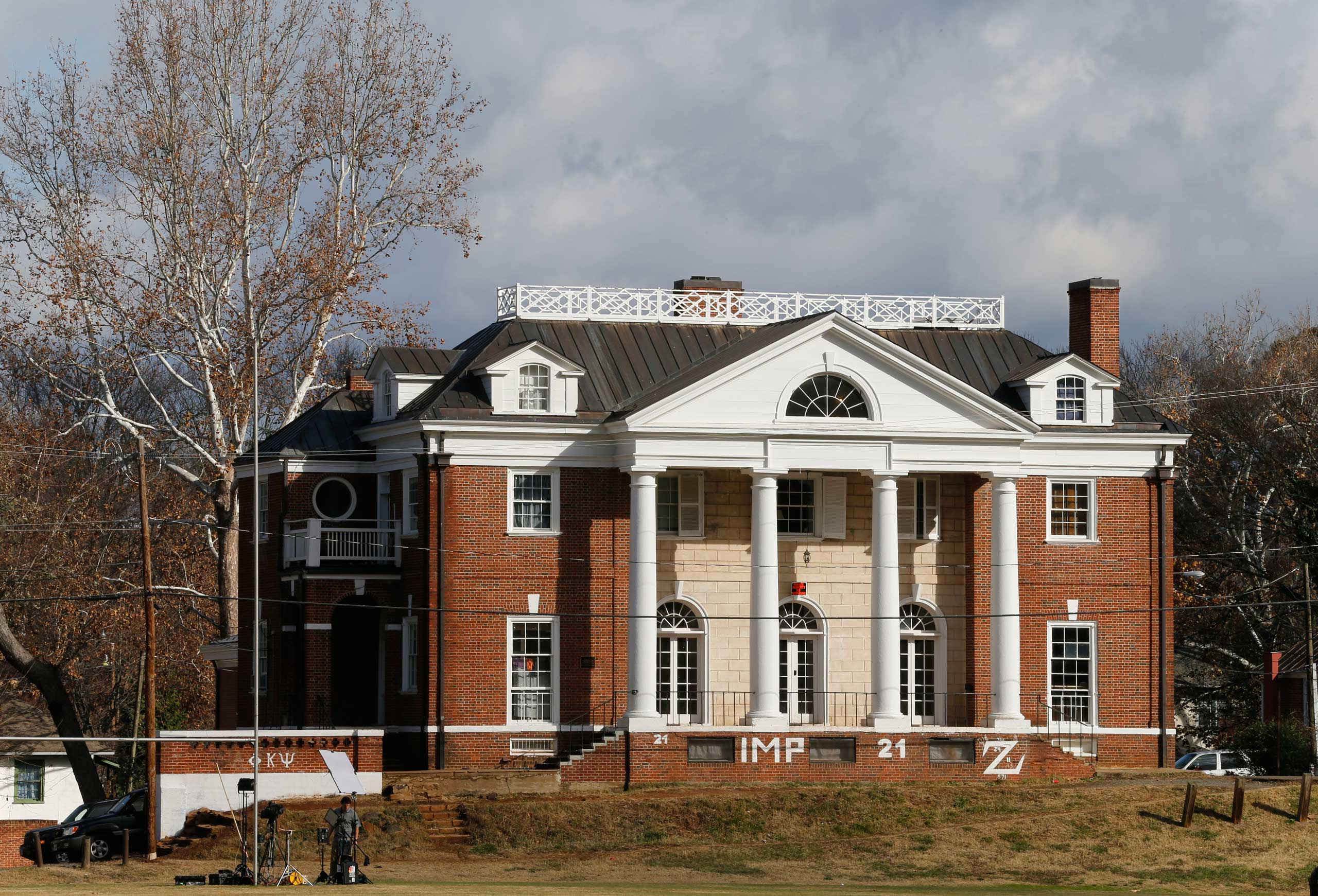 The Phi Kappa Psi fraternity house at the University of Virginia in Charlottesville, Va., on Nov. 24, 2014. A Rolling Stone article alleged a gang rape at the hous