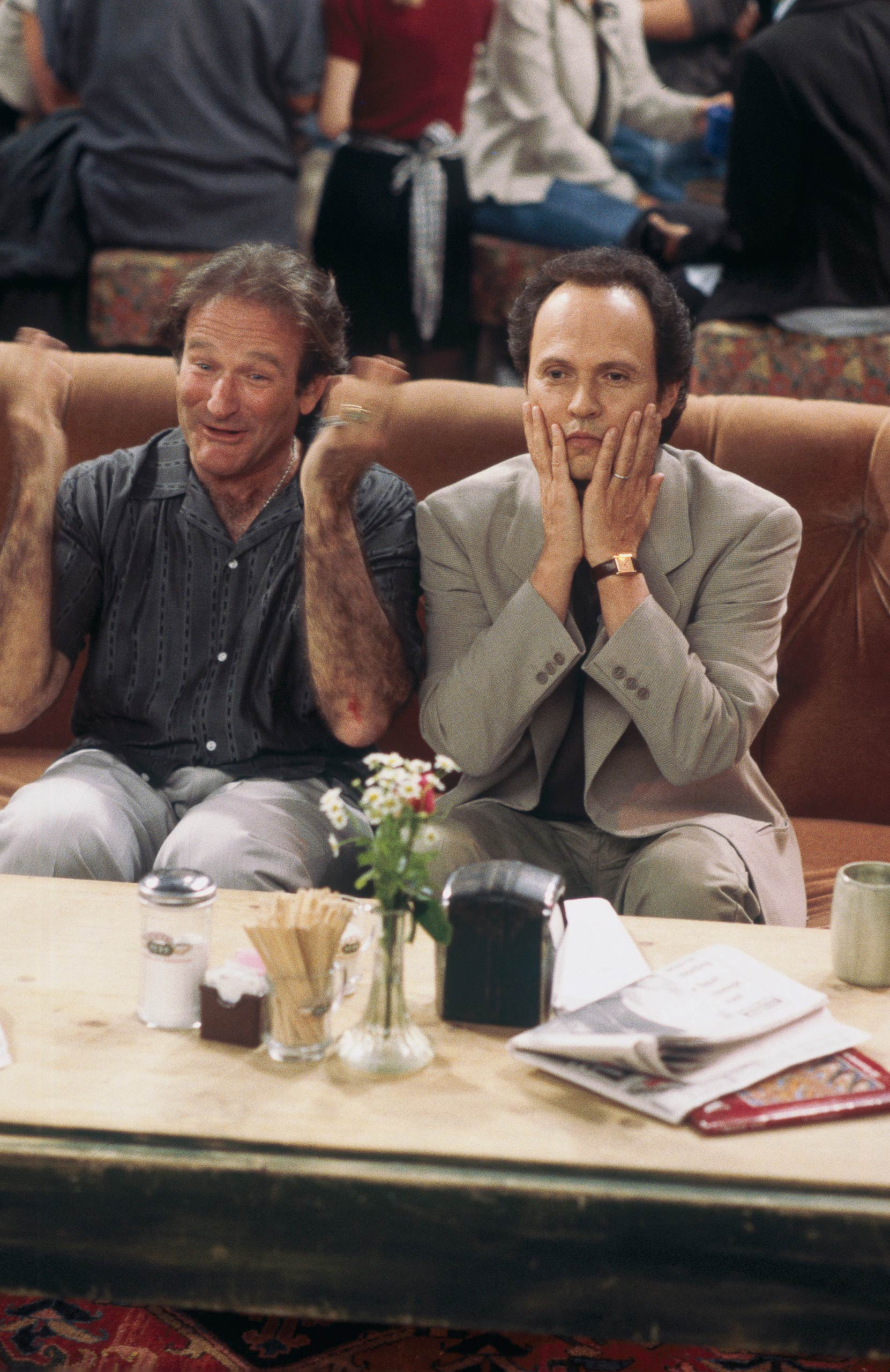 <strong>Billy Crystal</strong> – Crystal plays one of two crazy strangers (with Robin Williams) whose conversation the friends overhear at Central Perk