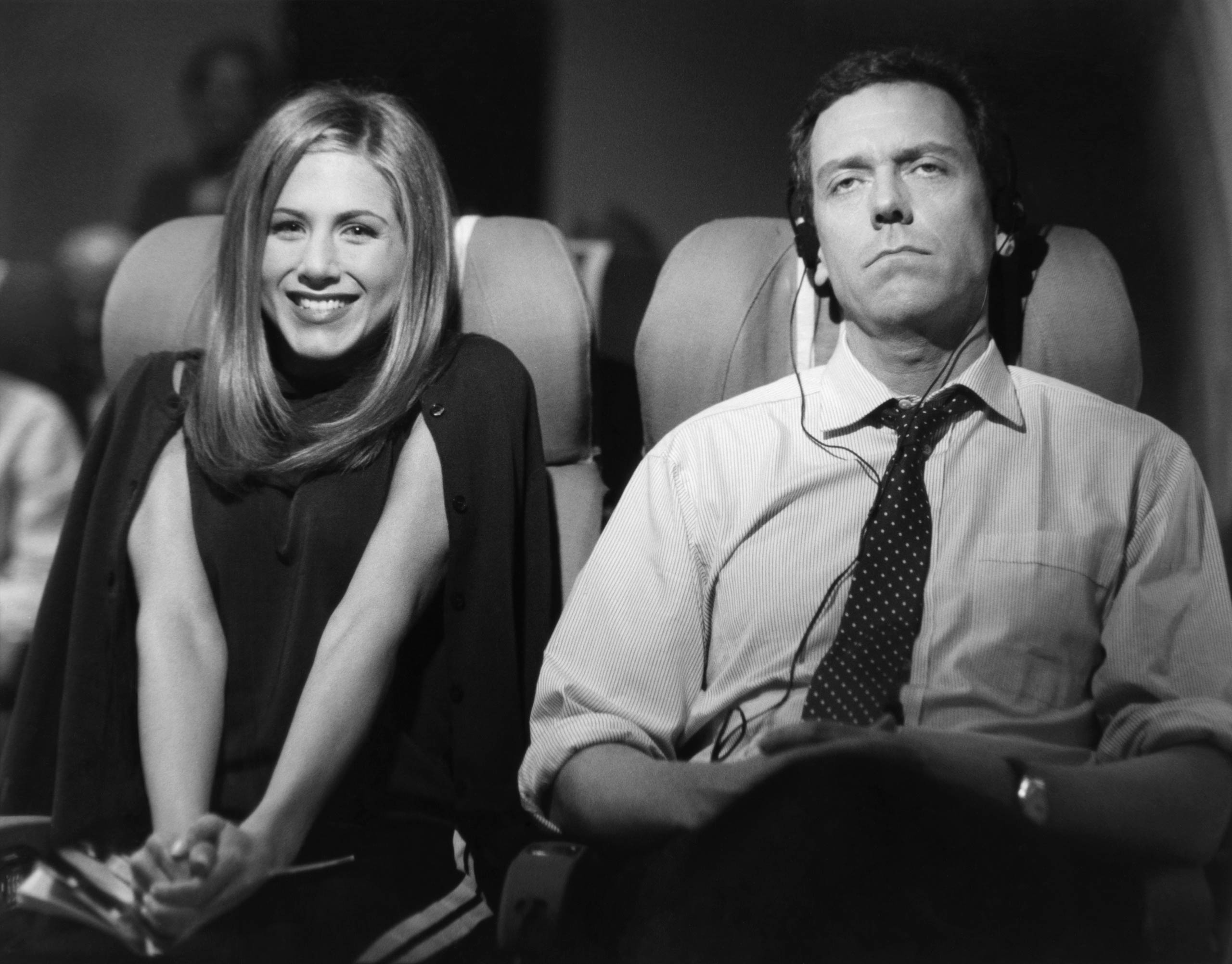 <strong>Hugh Laurie</strong> – The stranger sitting next to Rachel on her flight to England (Hugh Laurie) mocks her plan to break up Ross' wedding