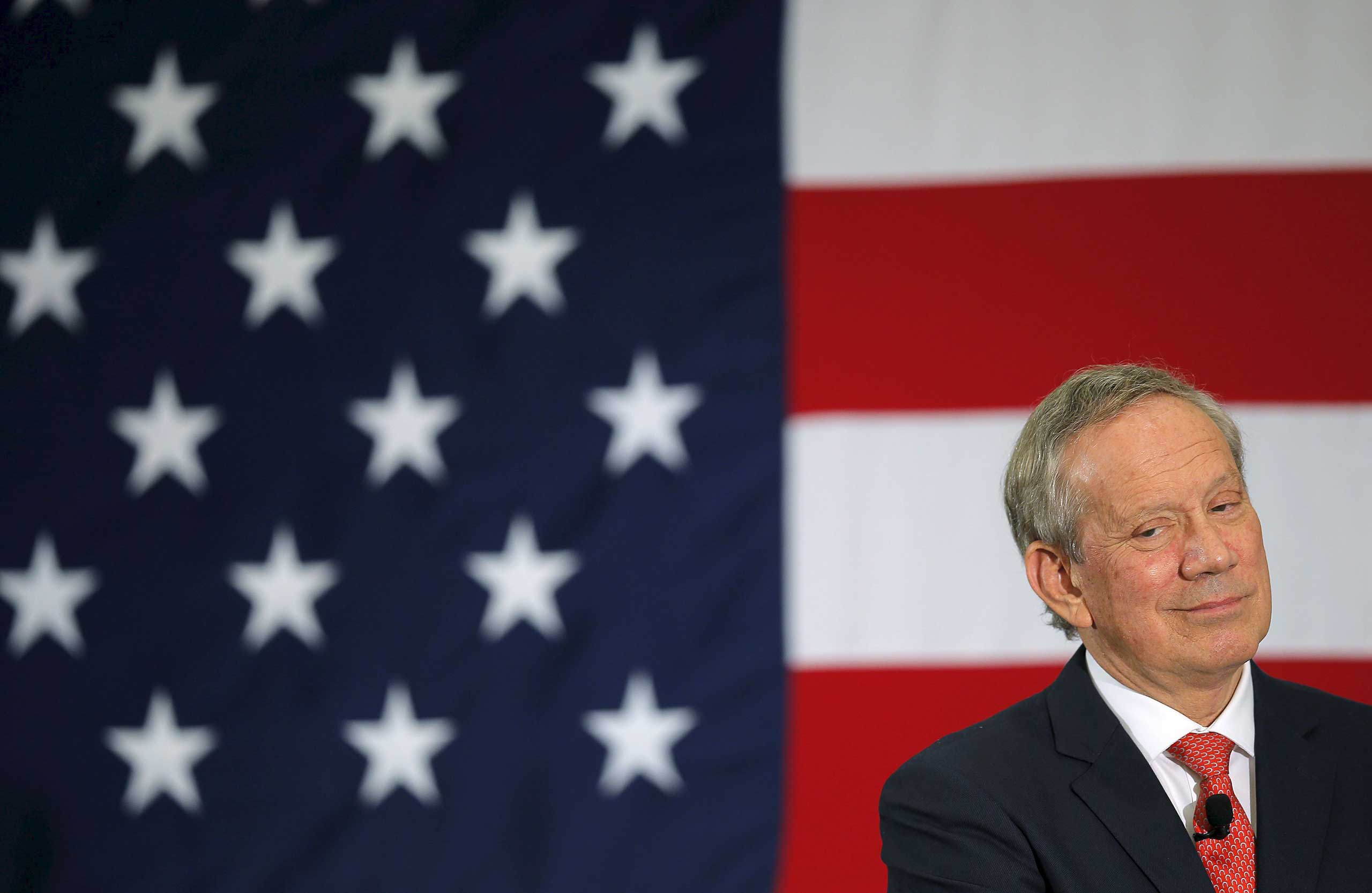 <b>George Pataki</b> Former New York governor George Pataki listens to a question at the First in the Nation Republican Leadership Conference in Nashua, New Hampshire, in this April 17, 2015 file photo.