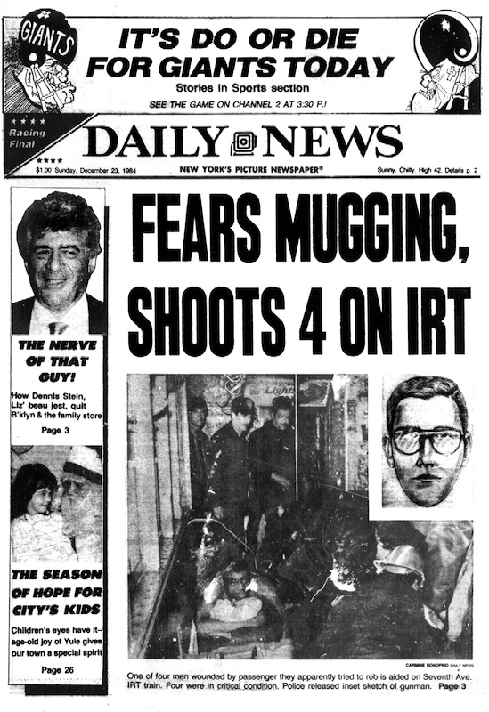 The New York Daily News front page from Dec. 23, 1984