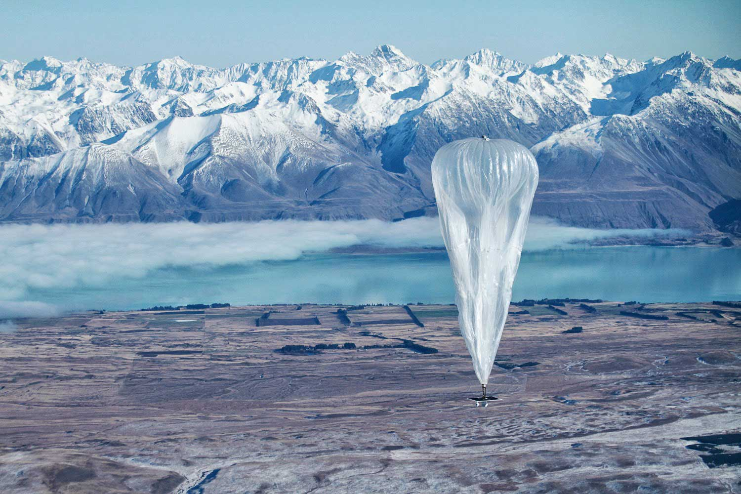 Google has been testing balloons which sail into the stratosphere and beam Internet down to Earth.