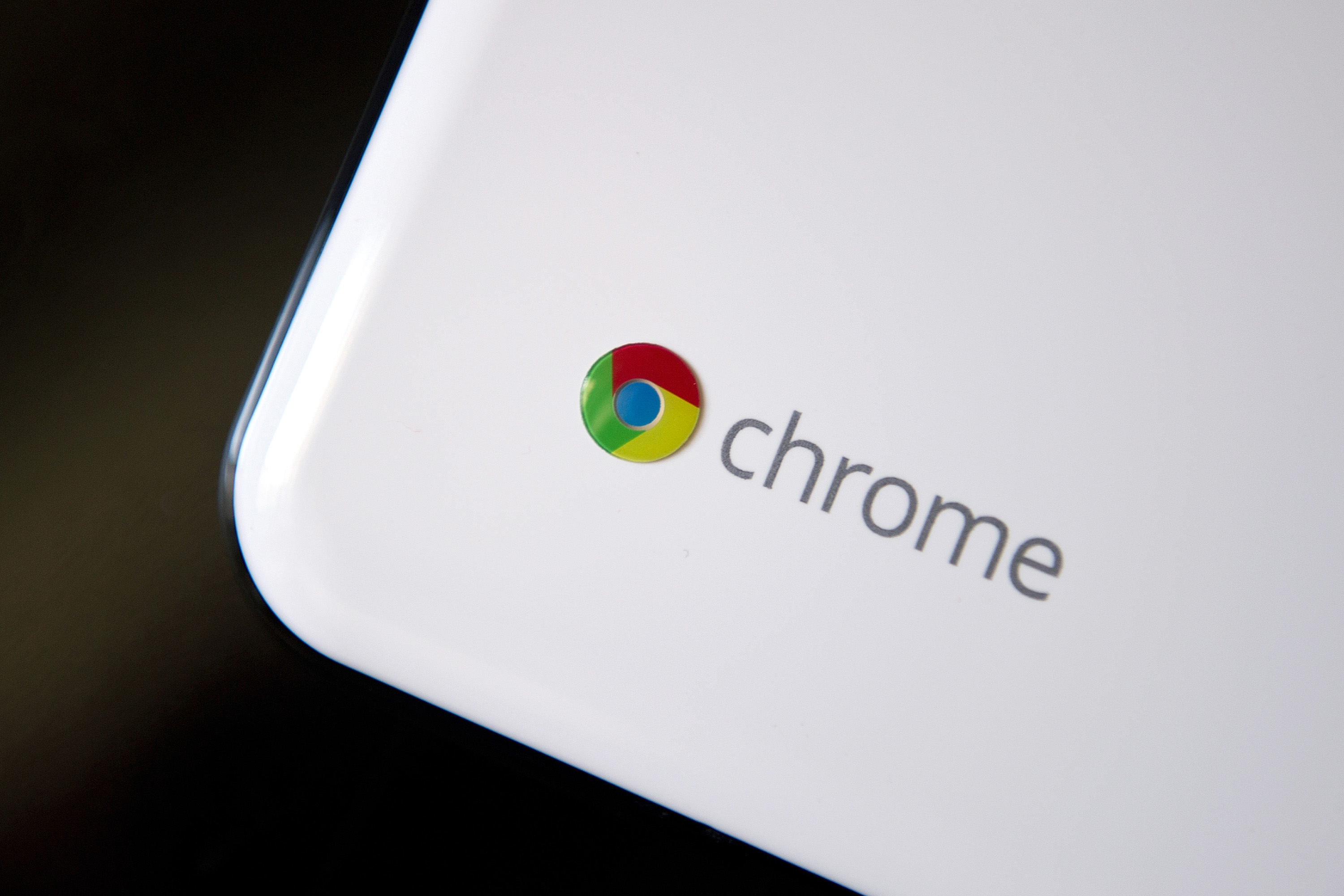 Google Inc. Chrome's logo is seen on a Chromebook in San Francisco, California, U.S., on Thursday, June 9, 2011.