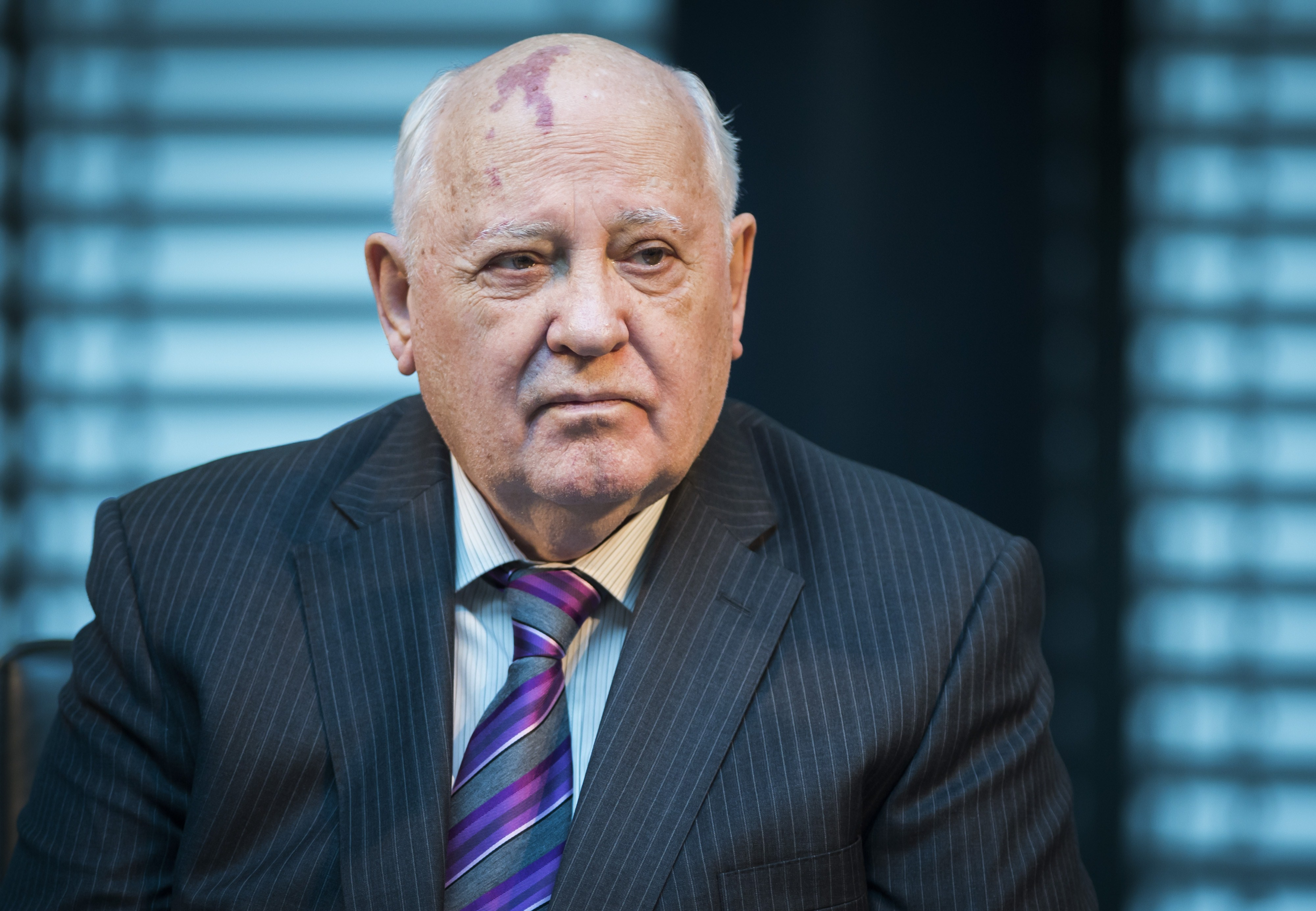 Former President of the Soviet Union Mikhail Gorbachev attends a symposium on security in Europe 25 years after the fall of the  Wall  in Berlin on Nov. 8, 2014.