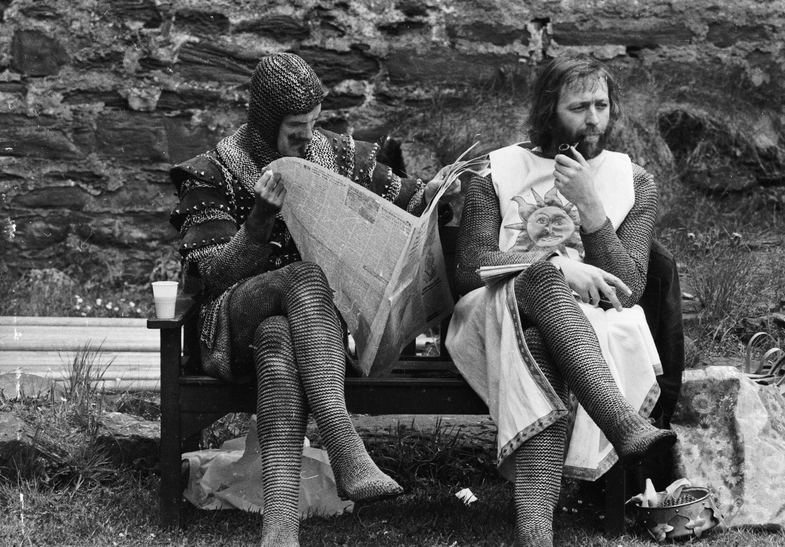 <strong>Graham Chapman, <i>Monty Python and the Holy Grail</i></strong>                                   The late Chapman (pictured right) played multiple roles, just like the rest of the Monty Python troupe; he wasn't just God but also King Arthur and one of the Three-Headed Knight's three heads.