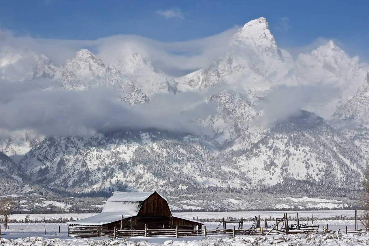 Winter has arrived at Grand Teton National Park in Wyoming, and it is gorgeous! Christina Adele Warburg@christinaadelephoto took this photo last weekend at Mormon Row. Photographers from around the world visit this area of the park to capture the iconic barn with the Teton Range in the background.