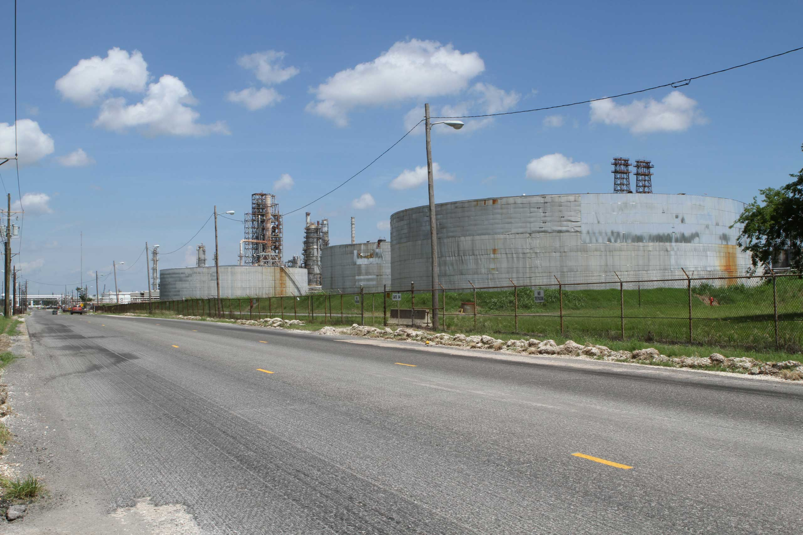 Dozens of companies have plans to build petrochemical plants, oil refineries and fertilizer facilities — such as this ConocoPhillips refinery in Westlake, Louisiana —to take advantage of cheap domestic natural gas from shale fields.