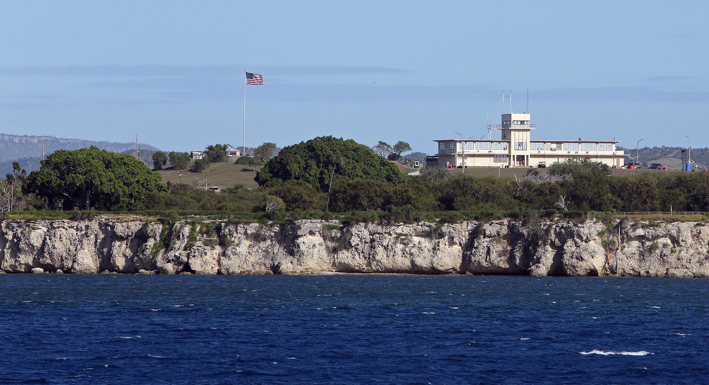 The original courtroom at the U.S. Navy base at Guantanamo Bay, Cuba.