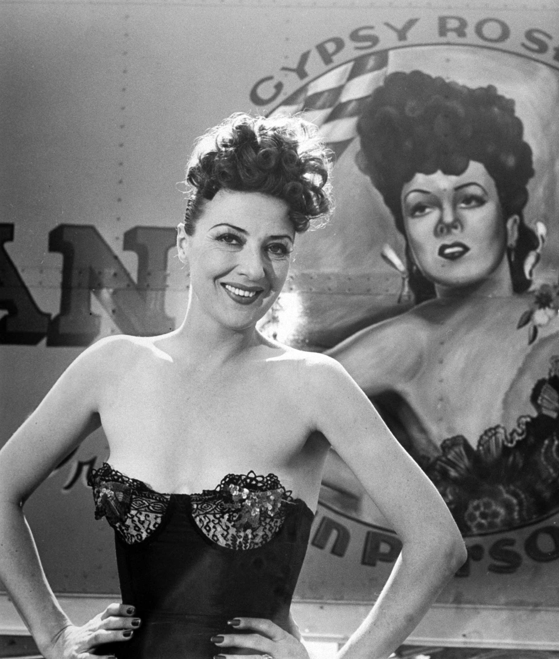 <b>Not published in LIFE.</b> Gypsy Rose Lee, 1949.