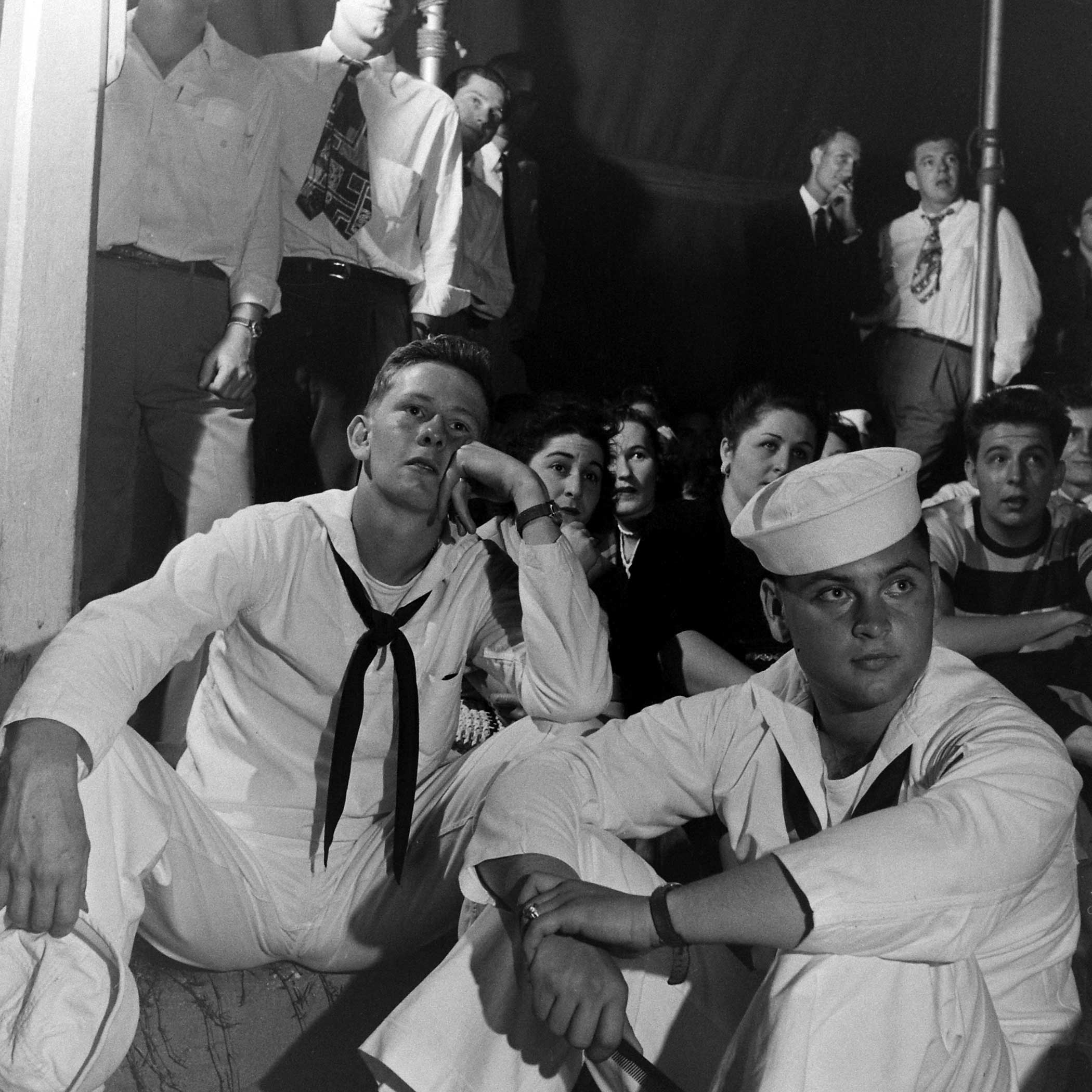 <b>Not published in LIFE.</b> Audience at a Gypsy Rose Lee burlesque show in Memphis, Tenn., 1949.
