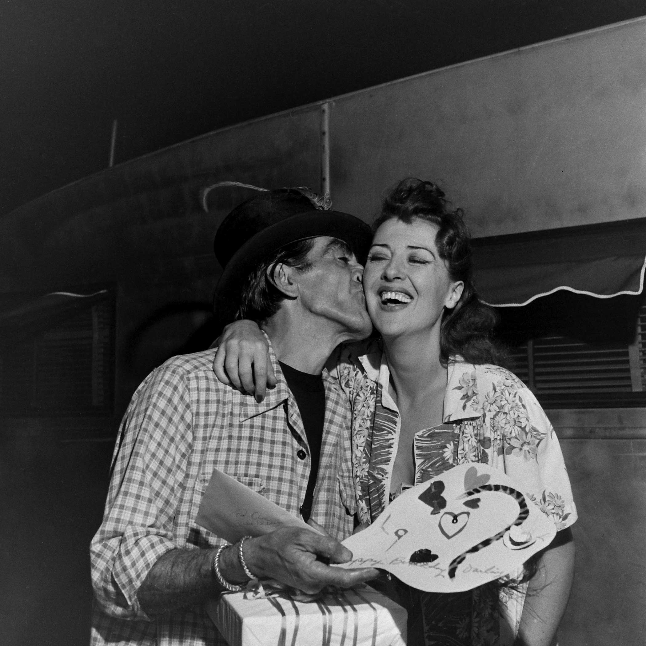<b>Not published in LIFE.</b> Gypsy Rose Lee with her third husband, the painter Julio de Diego, 1949.