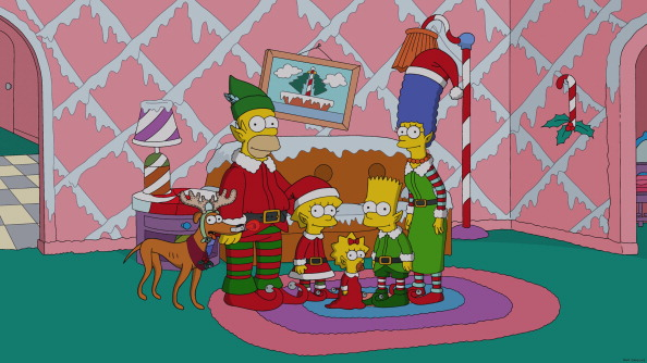 The Simpsons family in  White Christmas Blues  episode on Dec. 15, 2013.